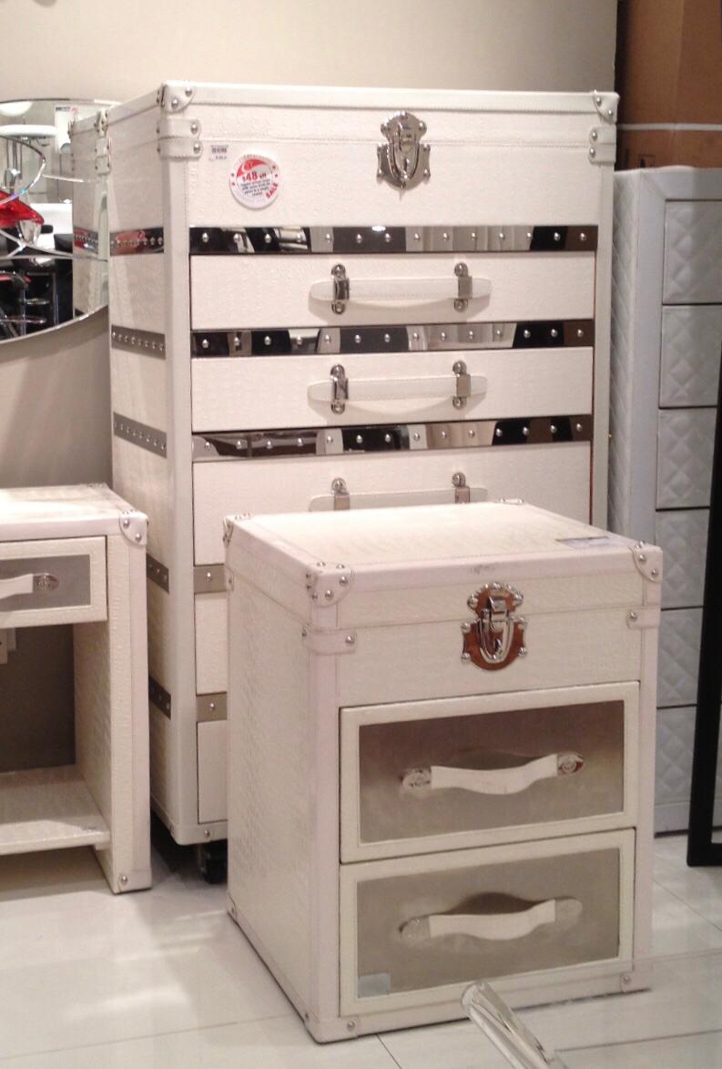 Molecule Kara Chest Of Drawers & Bedside Cabinet regarding Kara 4 Door Accent Cabinets (Image 23 of 30)