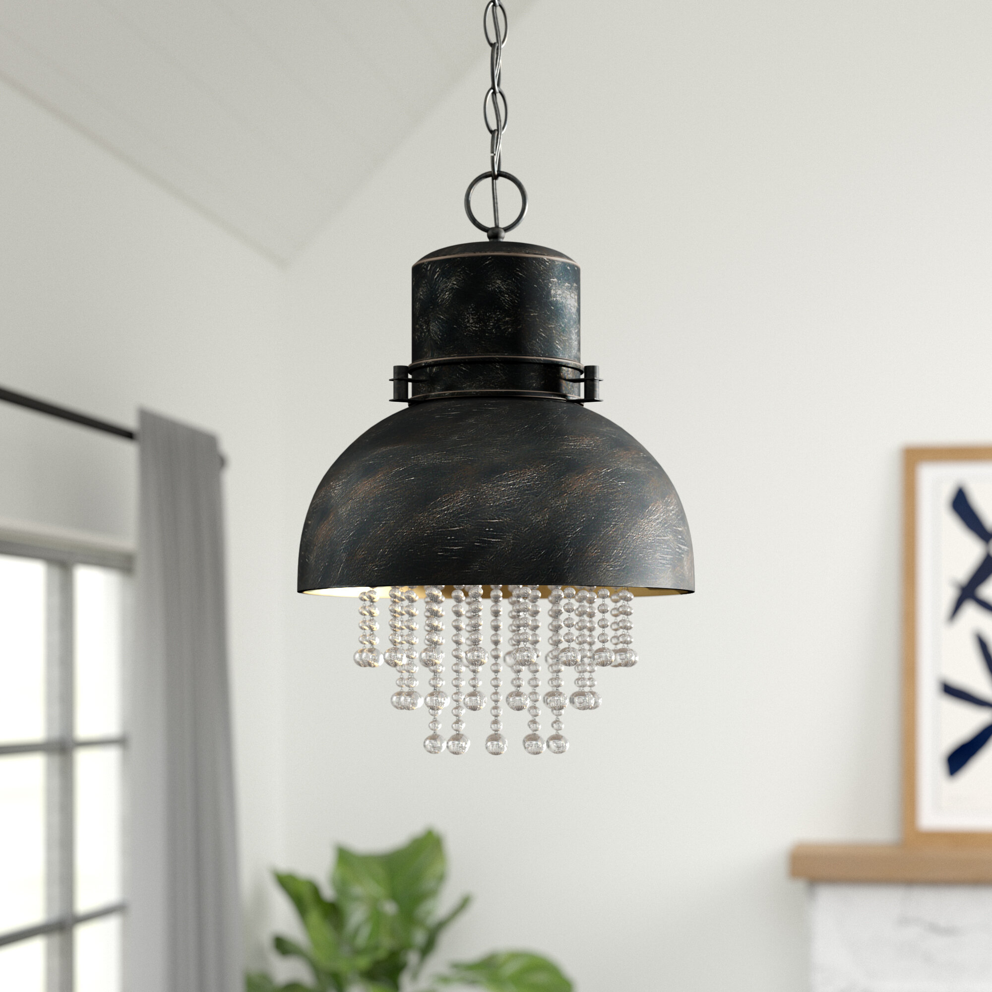 Monadnock 1-Light Single Dome Pendant for 1-Light Single Dome Pendants (Image 19 of 30)