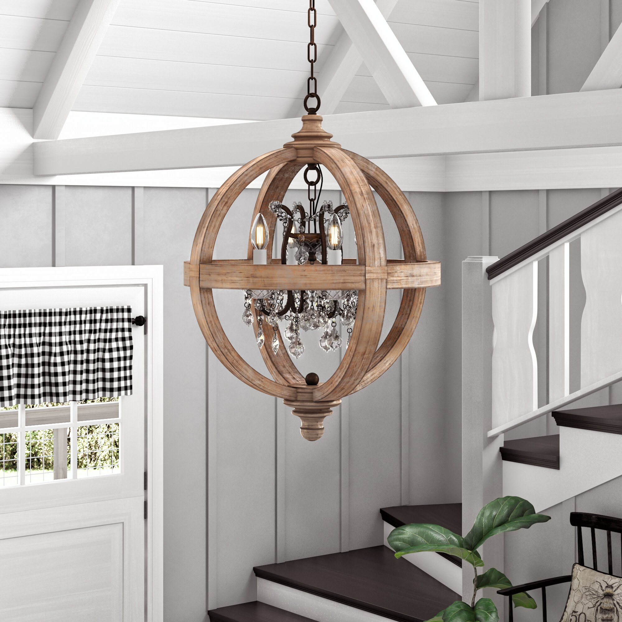 Montecito 4 Light Globe Chandelier For Filipe Globe Chandeliers (View 23 of 30)