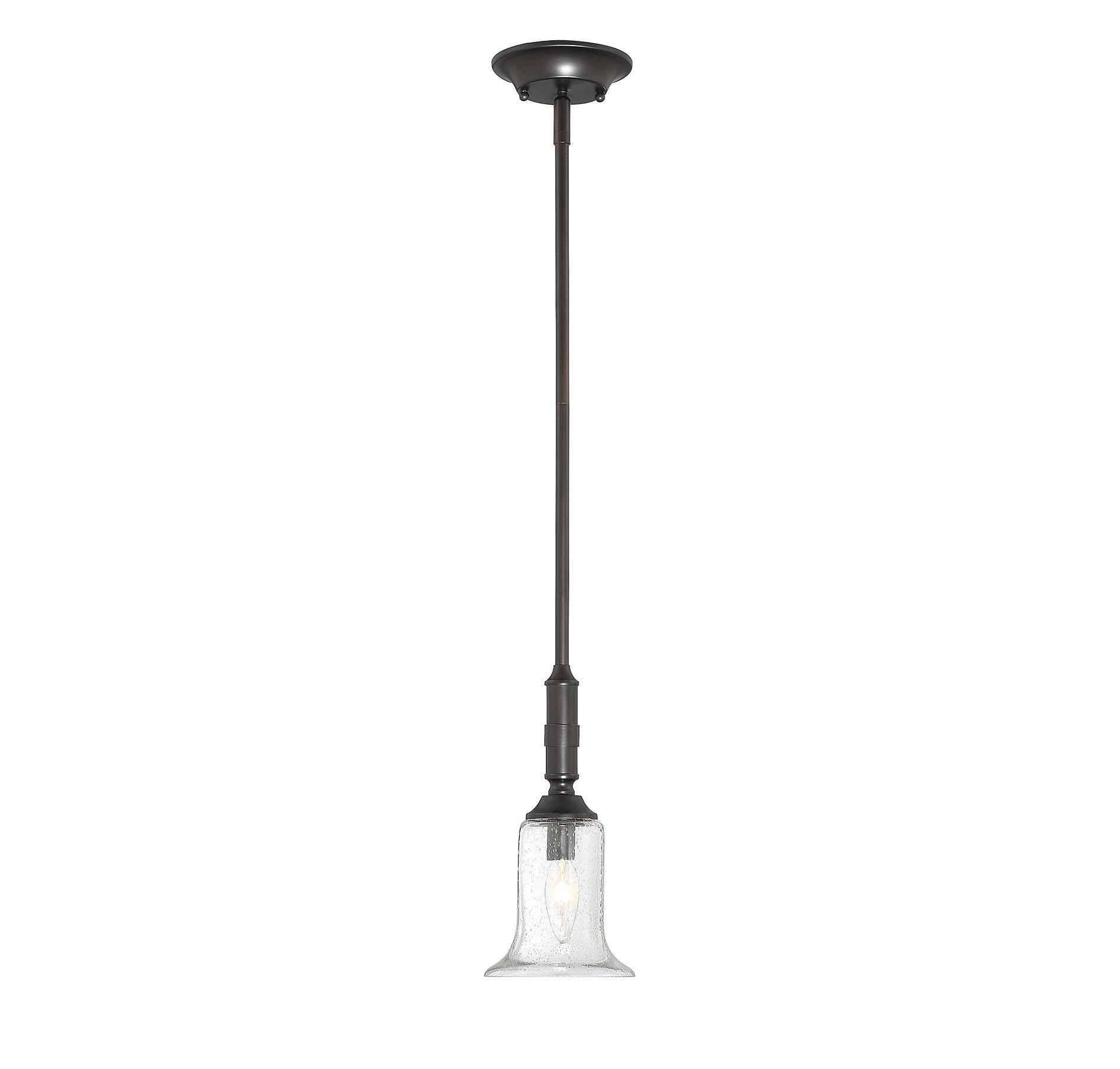Monterey 1-Light Bell Pendant regarding Moyer 1-Light Single Cylinder Pendants (Image 15 of 30)