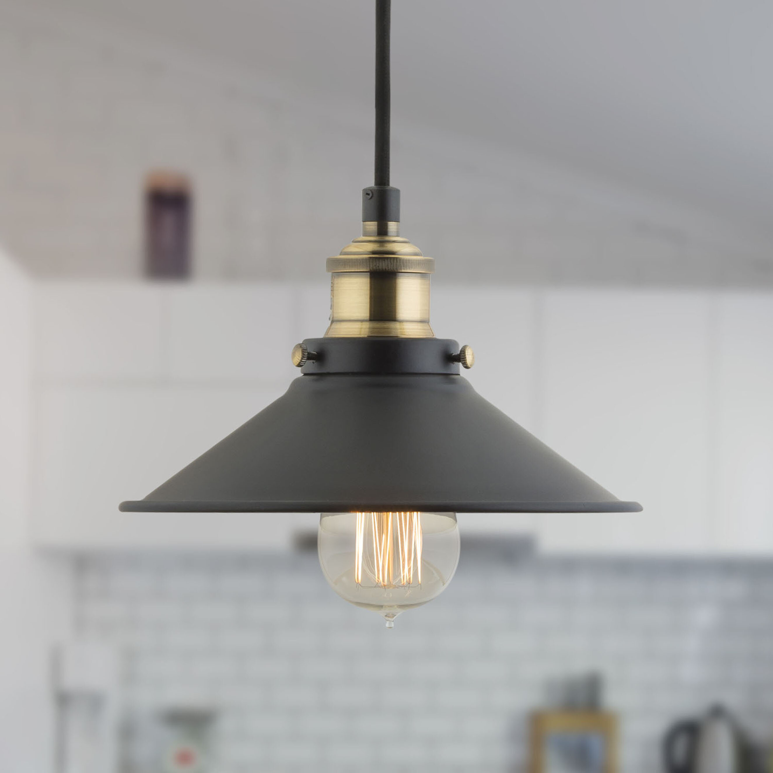 Montreal 1 Light Single Cone Pendant In Cinchring 1 Light Cone Pendants (View 22 of 30)