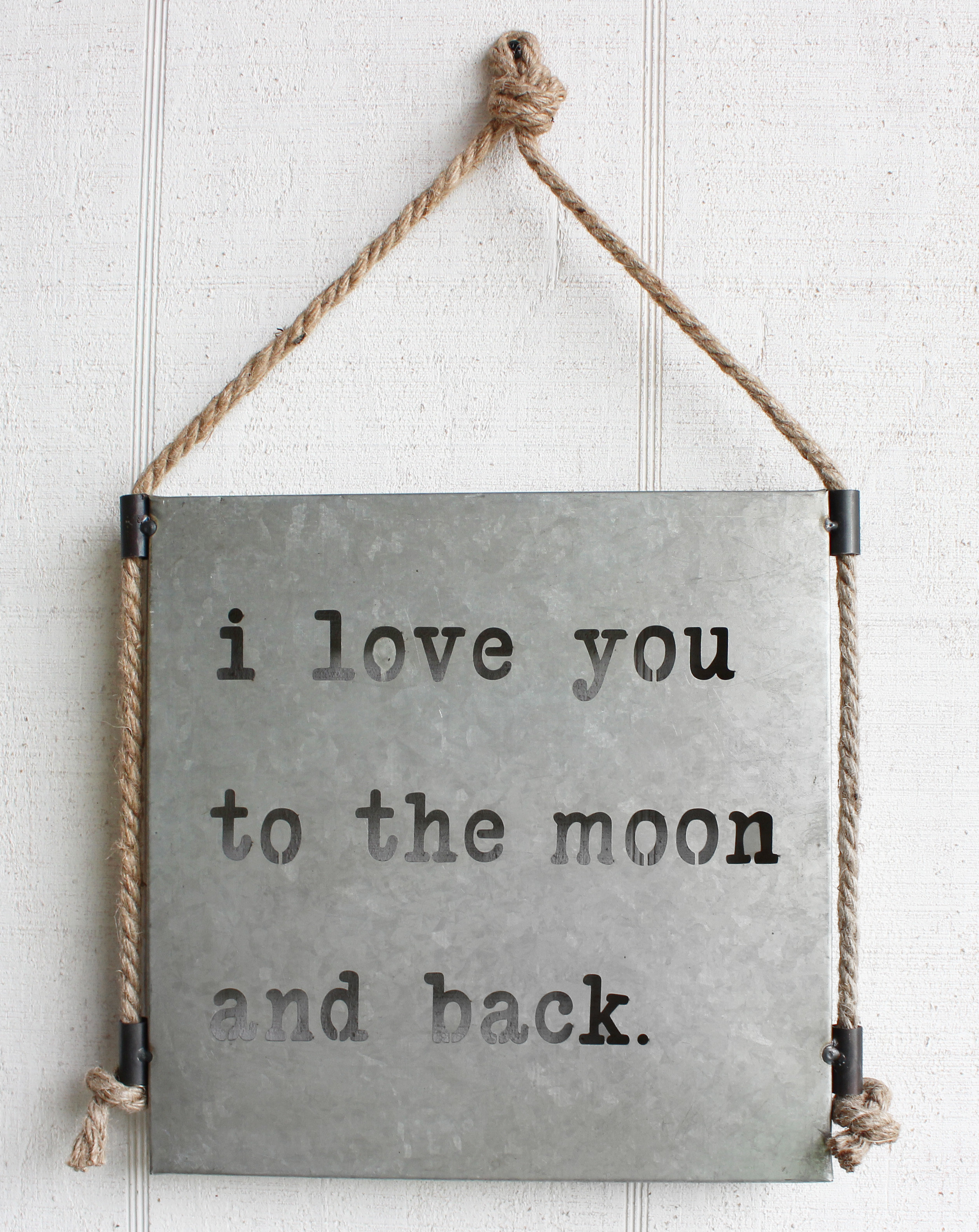 Moon And Back Sign Metal Wall Décor Pertaining To Metal Rope Wall Sign Wall Decor (View 26 of 30)