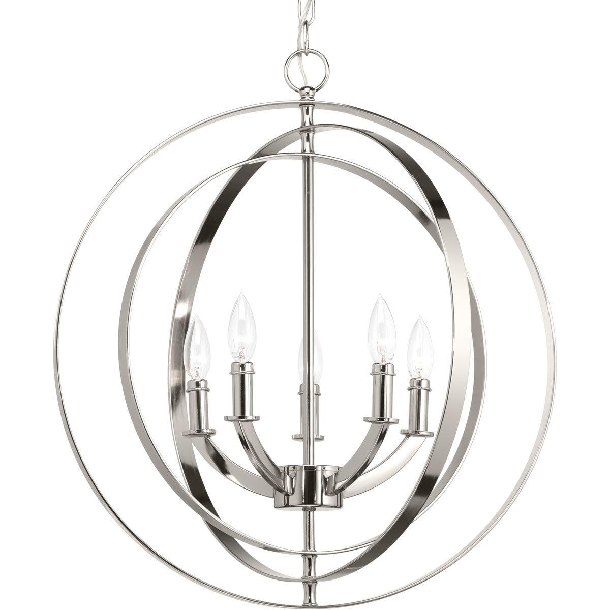 Morganti 5-Light Globe Chandelier pertaining to Morganti 4-Light Chandeliers (Image 19 of 30)