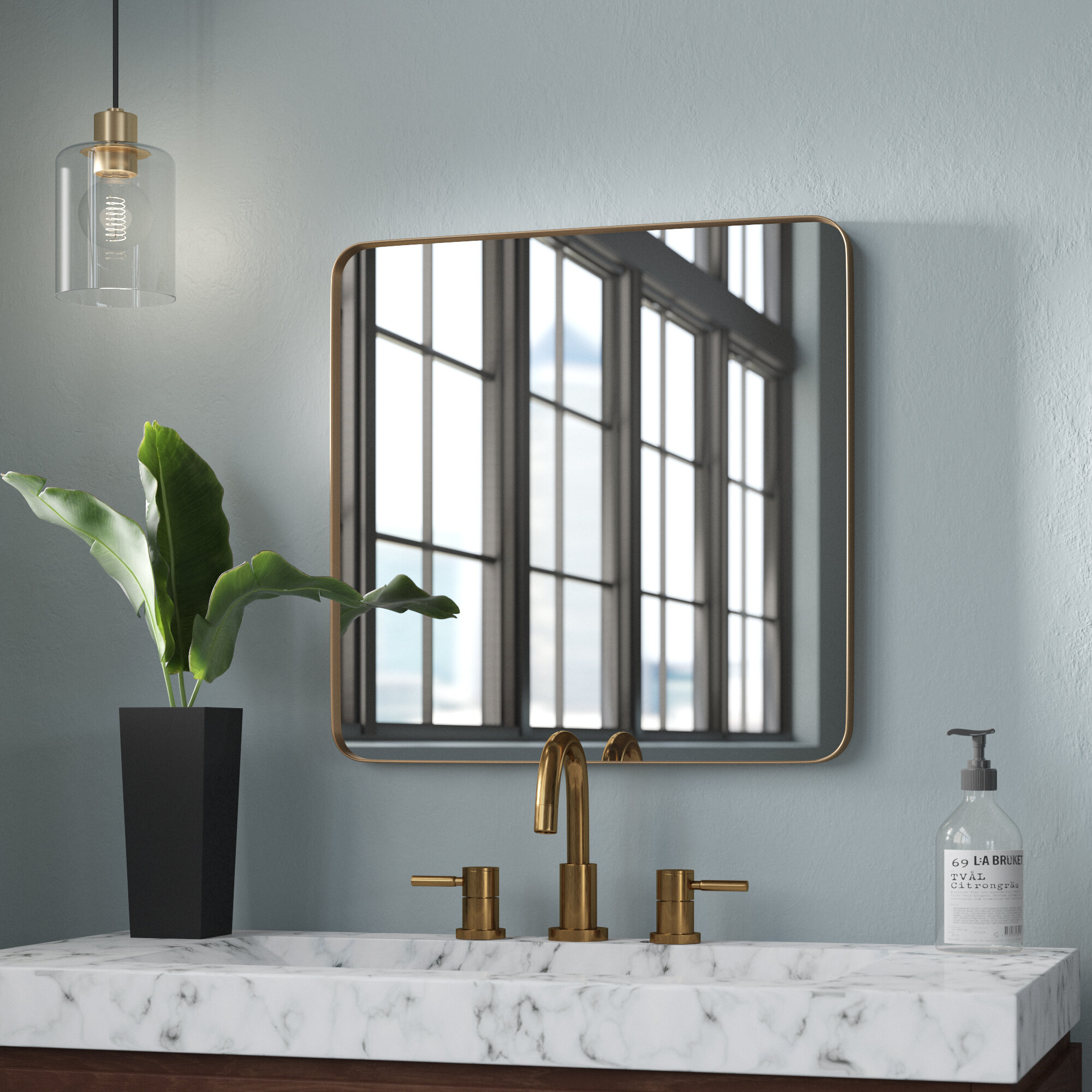 Morita Rectangle Metal Accent Mirror With Trigg Accent Mirrors (View 7 of 30)