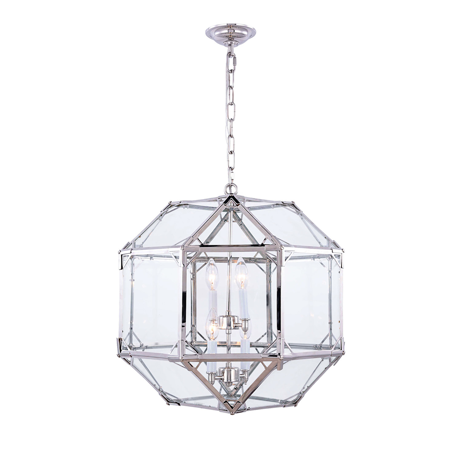 Moritz Octagonal 4-Light Lantern Pendant intended for Isoline 2-Light Lantern Geometric Pendants (Image 20 of 30)