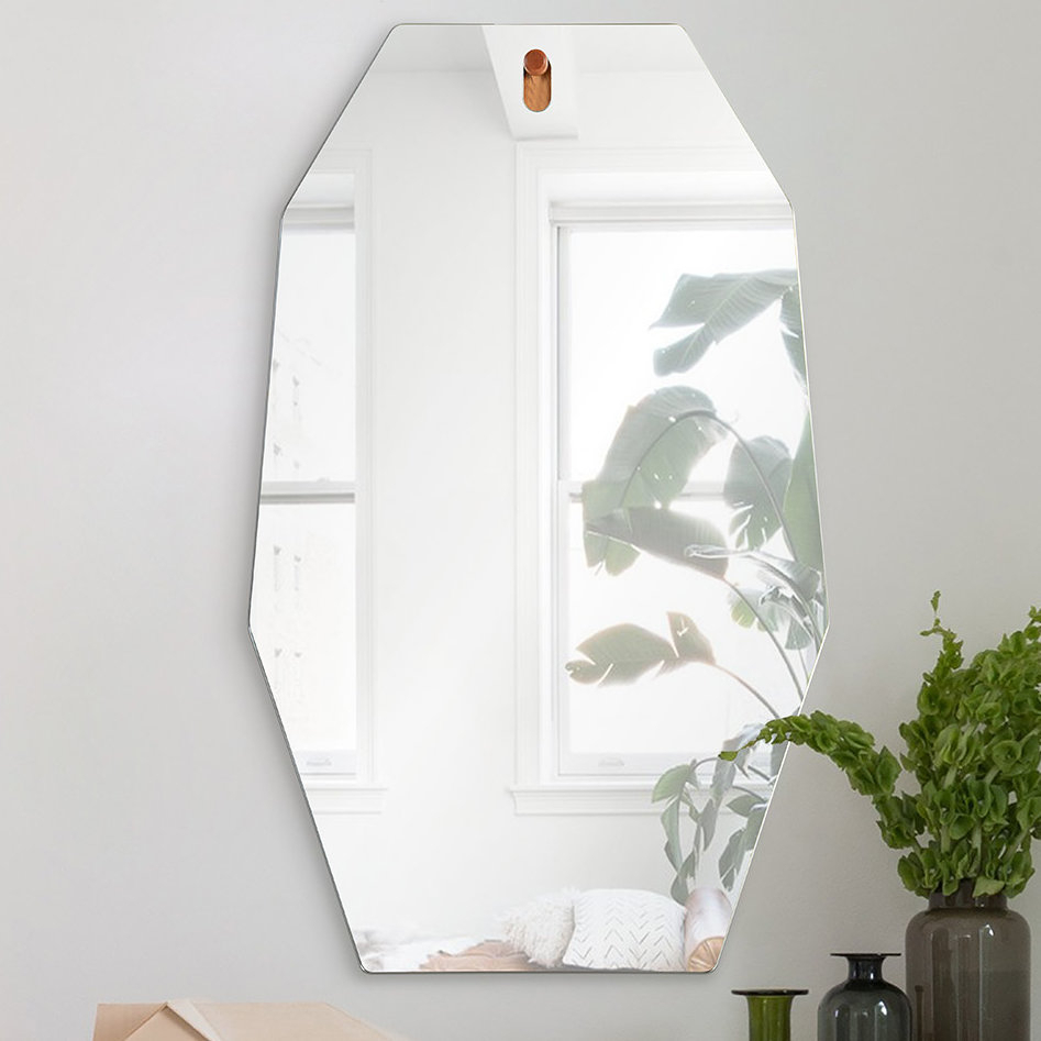 Morna Unframed Octagonal Accent Wall Mirror With Egor Accent Mirrors (View 22 of 30)