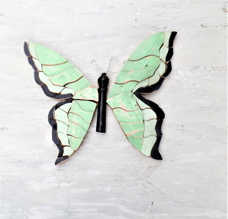 Mosaic Butterfly, Wooden Wall Art, Boho Wall Decor, Butterfly Wall Art, Bohemian Decor, Wood Butterfly, Nursery Decor, Wooden Butterfly Intended For 3 Piece Capri Butterfly Wall Decor Sets (View 28 of 30)