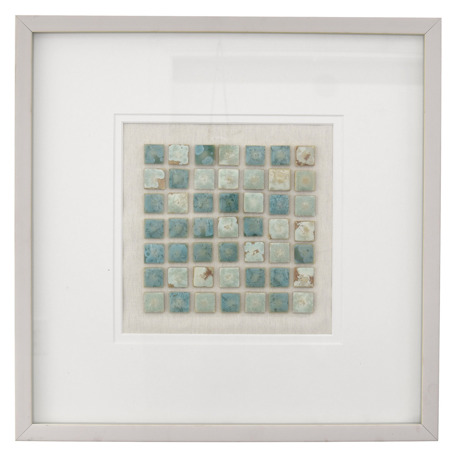 Mosaic Look Frame Wall Décor within 1 Piece Ortie Panel Wall Decor (Image 20 of 30)