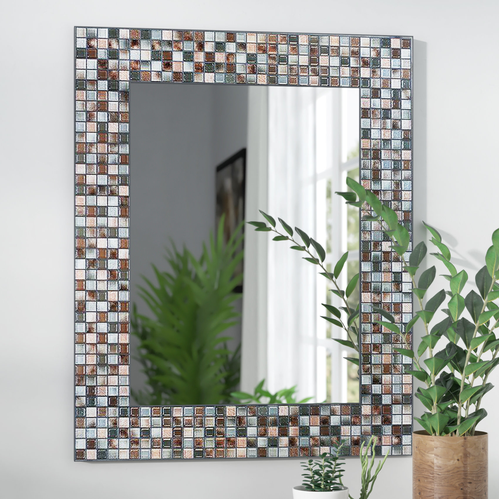 Mosaic Wall Mirrors | Wayfair for Swagger Accent Wall Mirrors (Image 20 of 30)