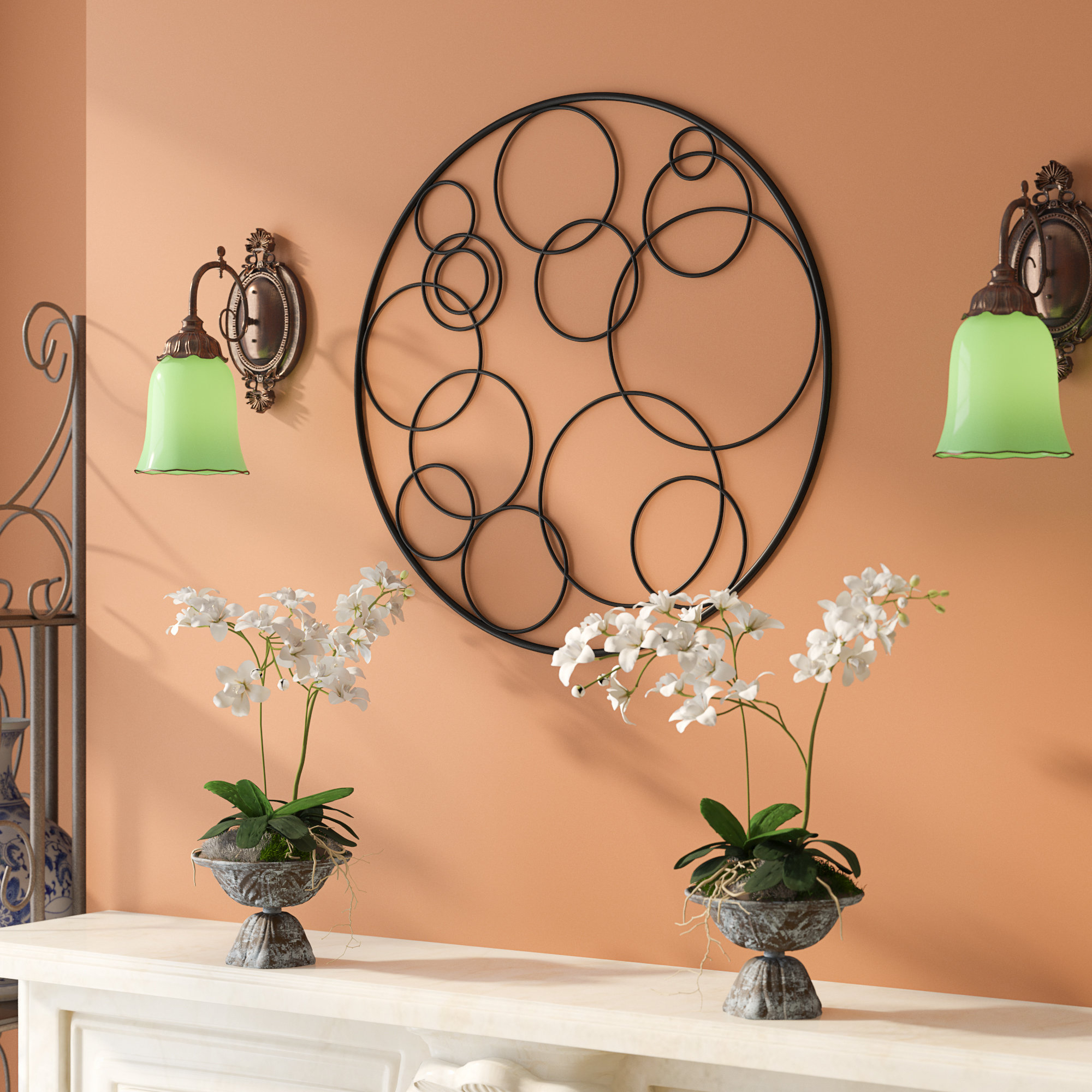 Multi Circle Wall Decor | Wayfair inside Belle Circular Scroll Wall Decor (Image 25 of 30)