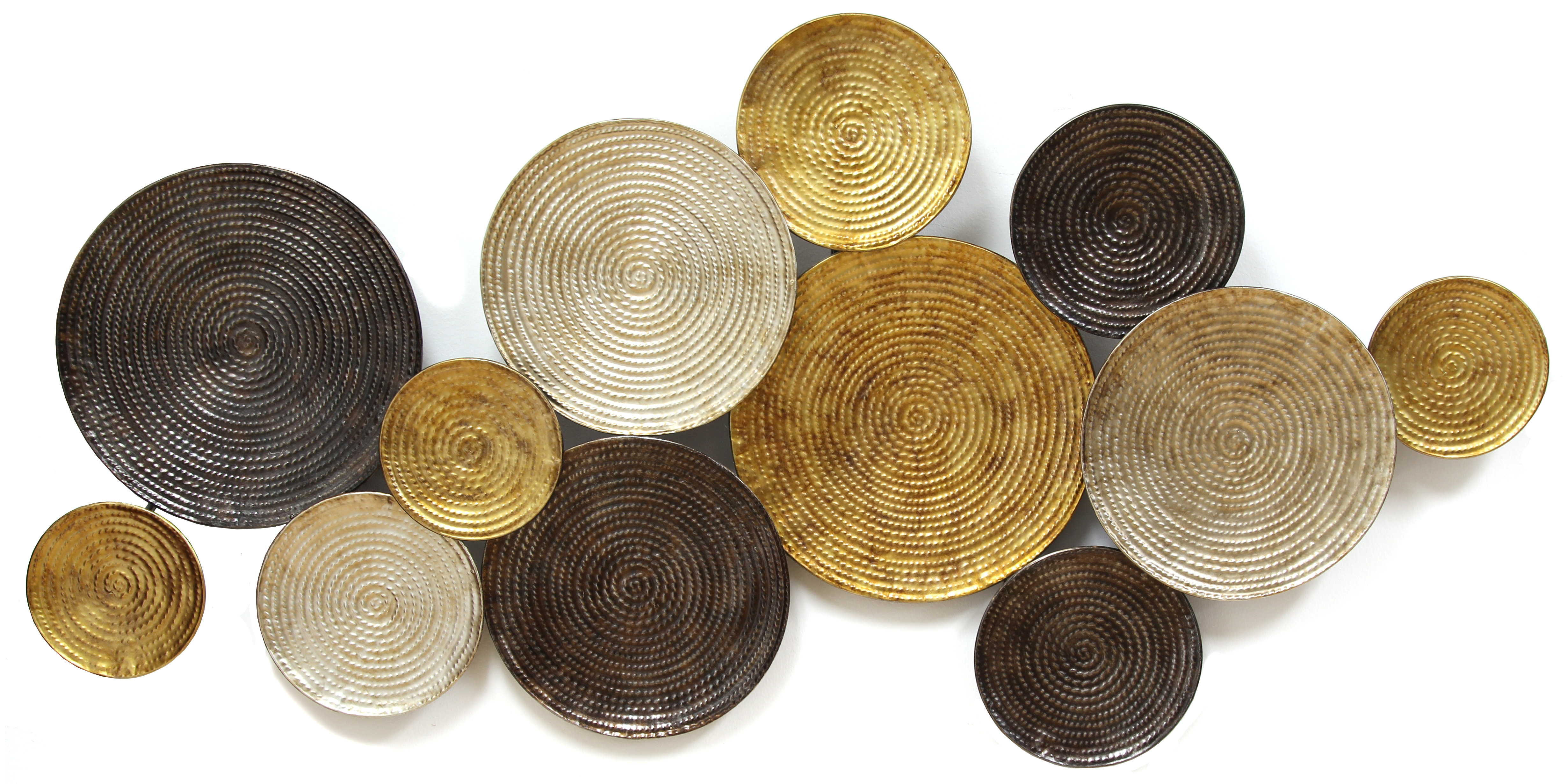 Multi Circles Wall Décor for Multi Plates Wall Decor (Image 16 of 30)