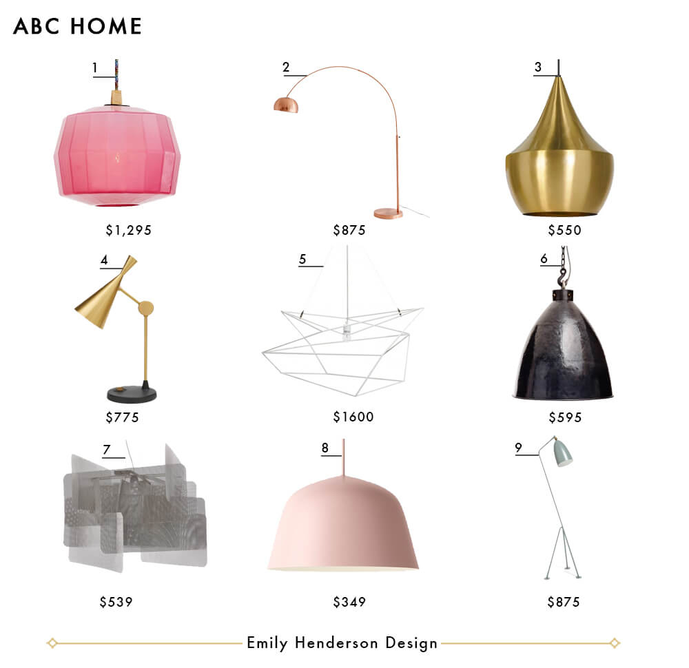 My Favorite 37 Online Lighting Resources - Emily Henderson pertaining to Jayce 1-Light Cylinder Pendants (Image 16 of 30)