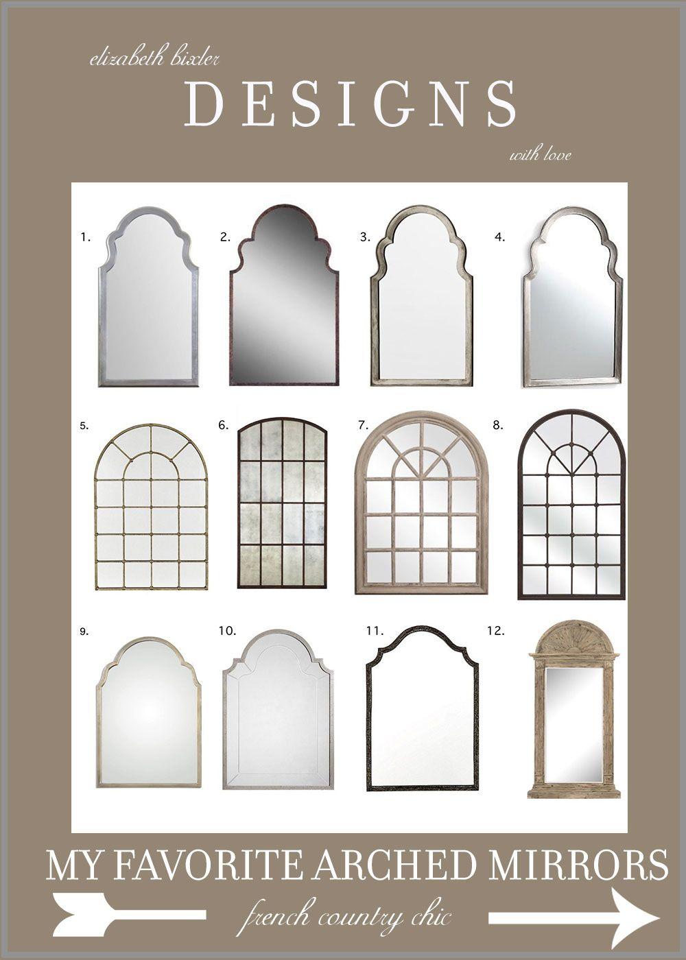 My Favorite Arch Mirrors | | Elizabeth Bixler Designs Regarding Arch Vertical Wall Mirrors (View 18 of 30)