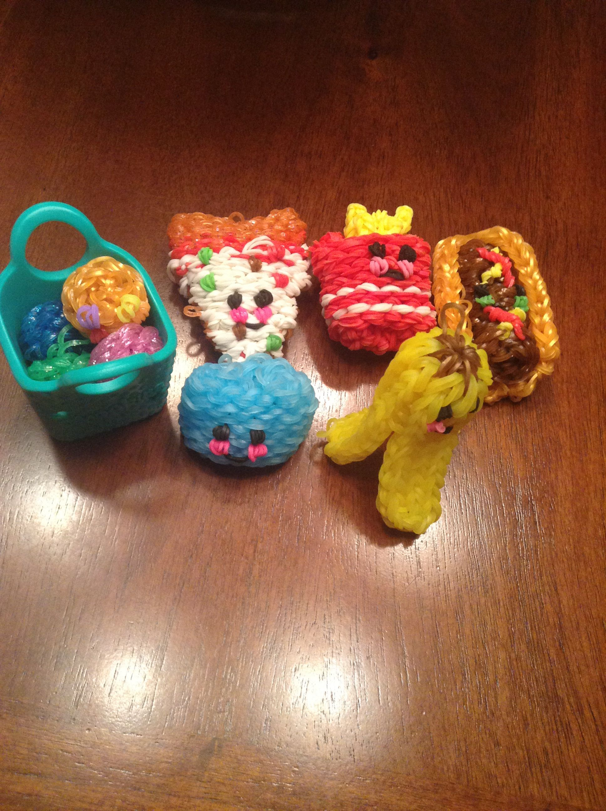 My Rainbow Loom 3D Happy Foods, ( Fast Food Plus Other Within Ammerman 1 Light Cone Pendants (Image 23 of 30)