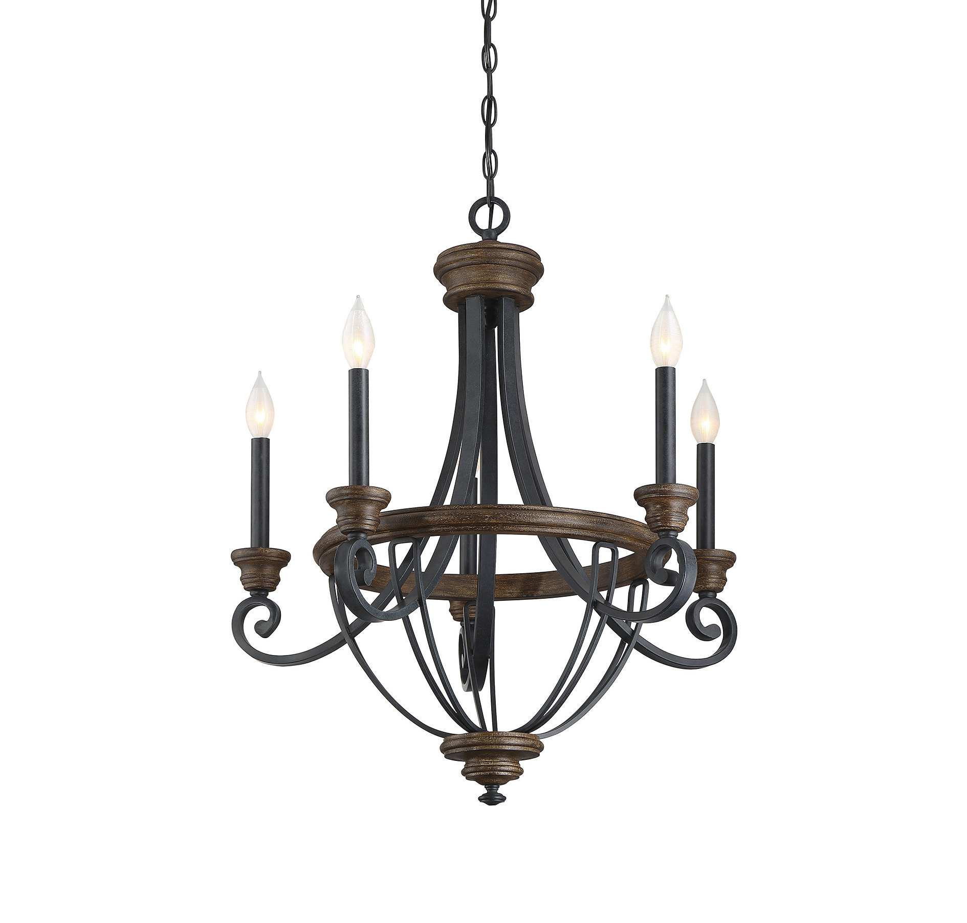 Nanteuil 5 Light Empire Chandelier In Kenna 5 Light Empire Chandeliers (View 8 of 30)