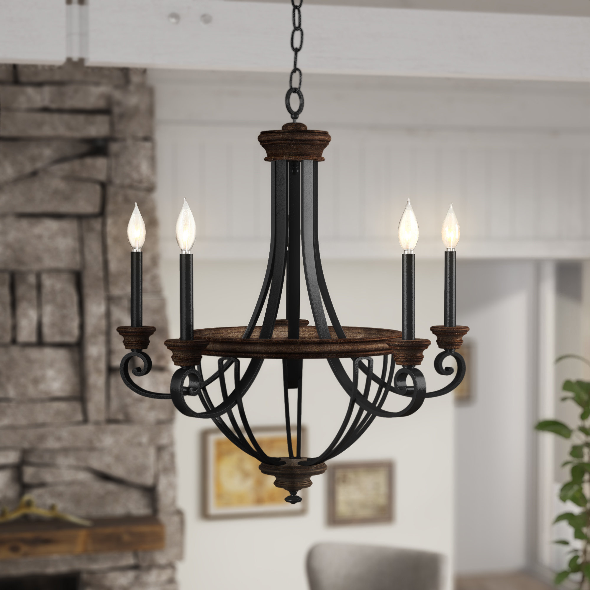 Nanteuil 5-Light Empire Chandelier with regard to Camilla 9-Light Candle Style Chandeliers (Image 23 of 30)