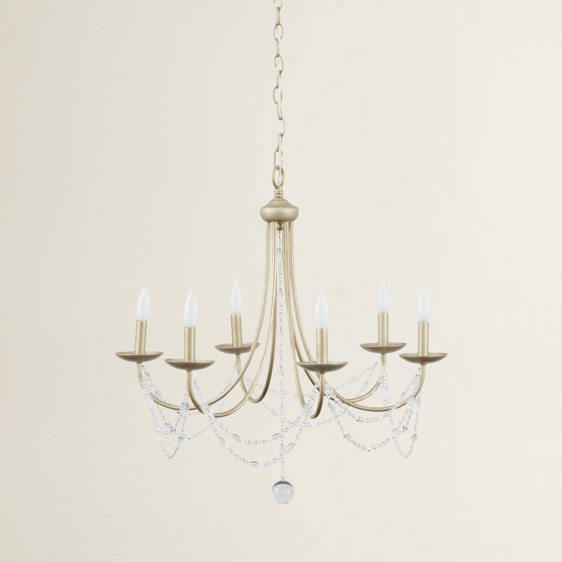 Nantucket 6 Light Candle Style Chandelier Pertaining To Hamza 6 Light Candle Style Chandeliers (View 15 of 30)