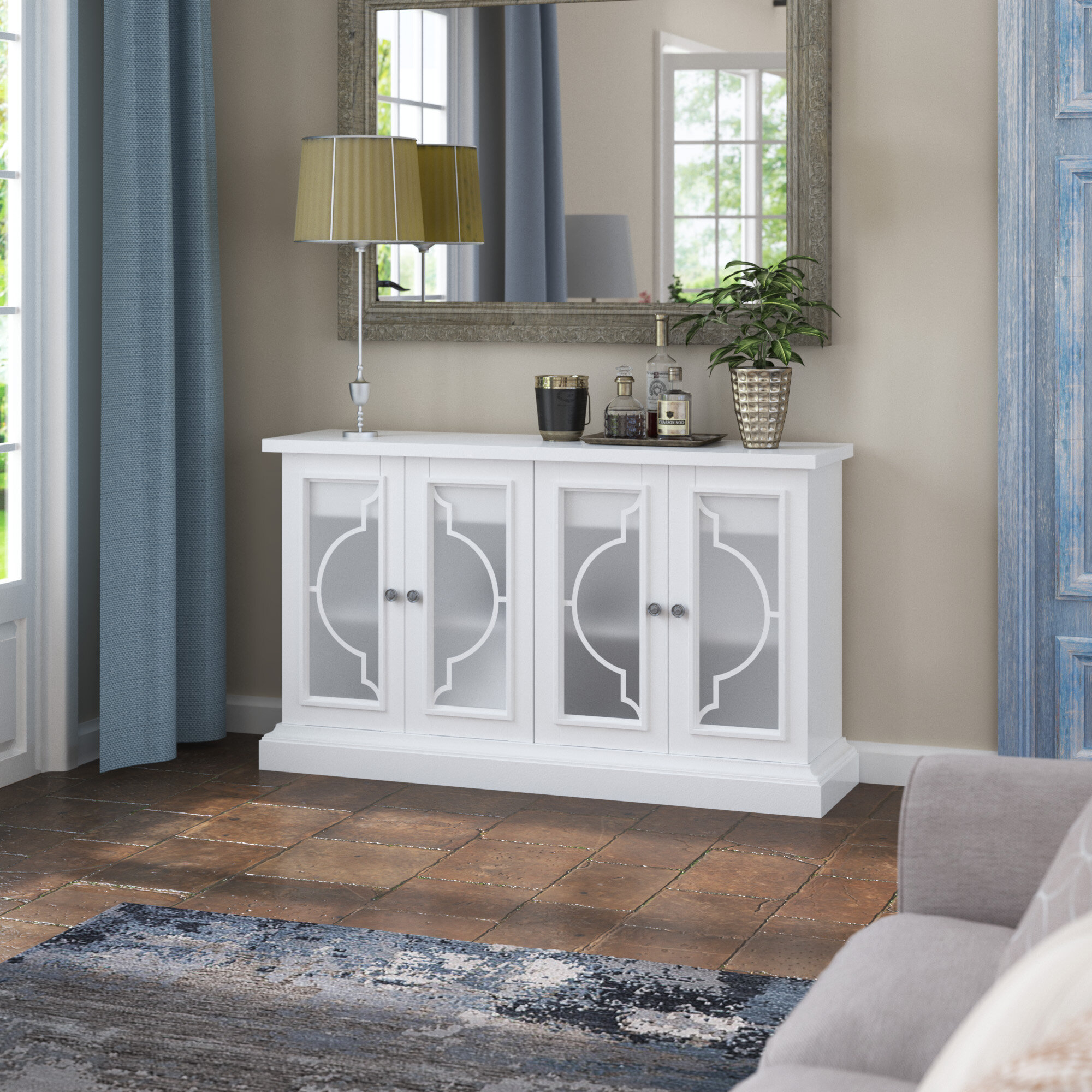 Narrow Sideboards And Buffets | Wayfair (Image 25 of 30)