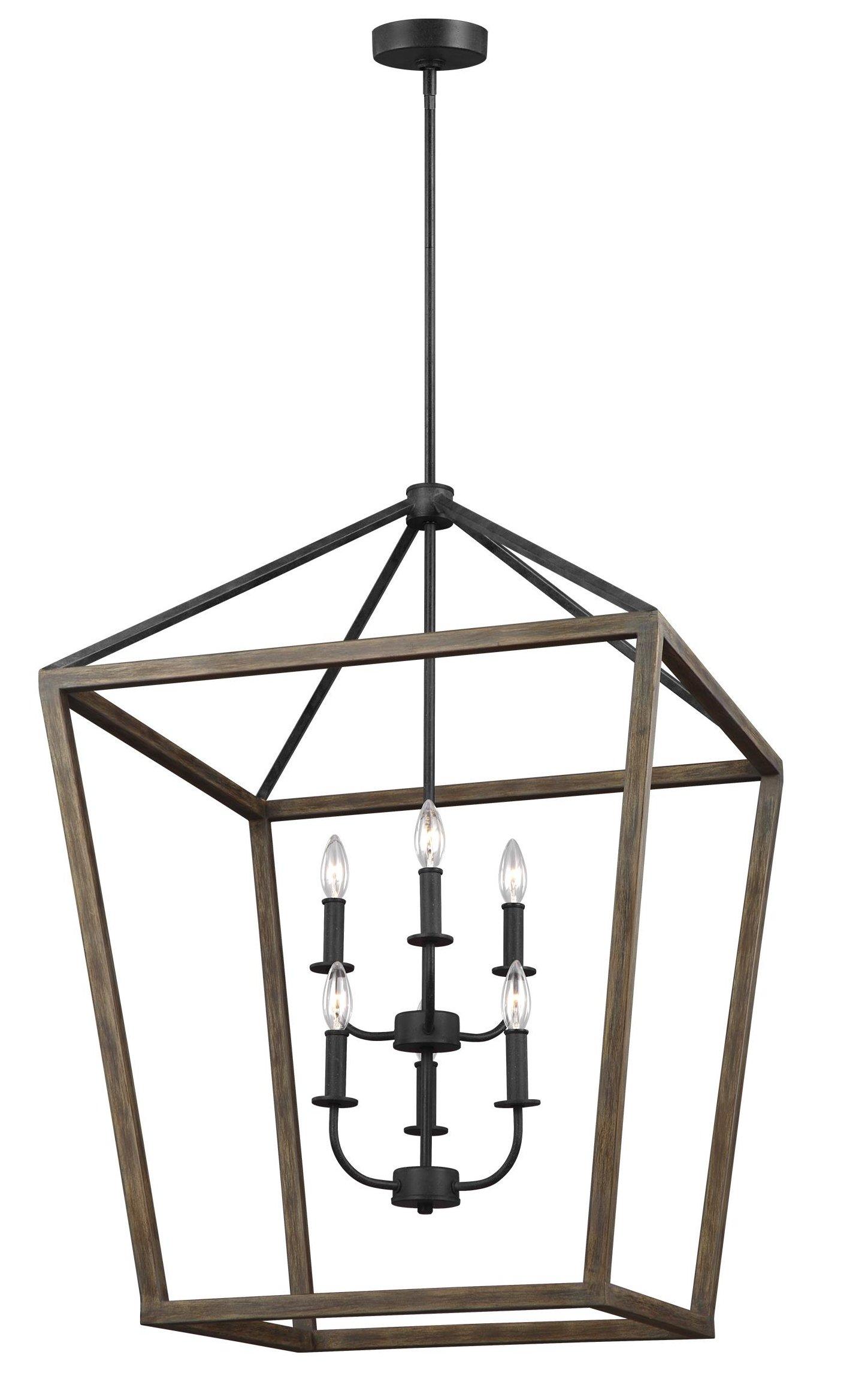 Natarsha 6-Light Lantern Geometric Pendant pertaining to Odie 4-Light Lantern Square Pendants (Image 15 of 30)