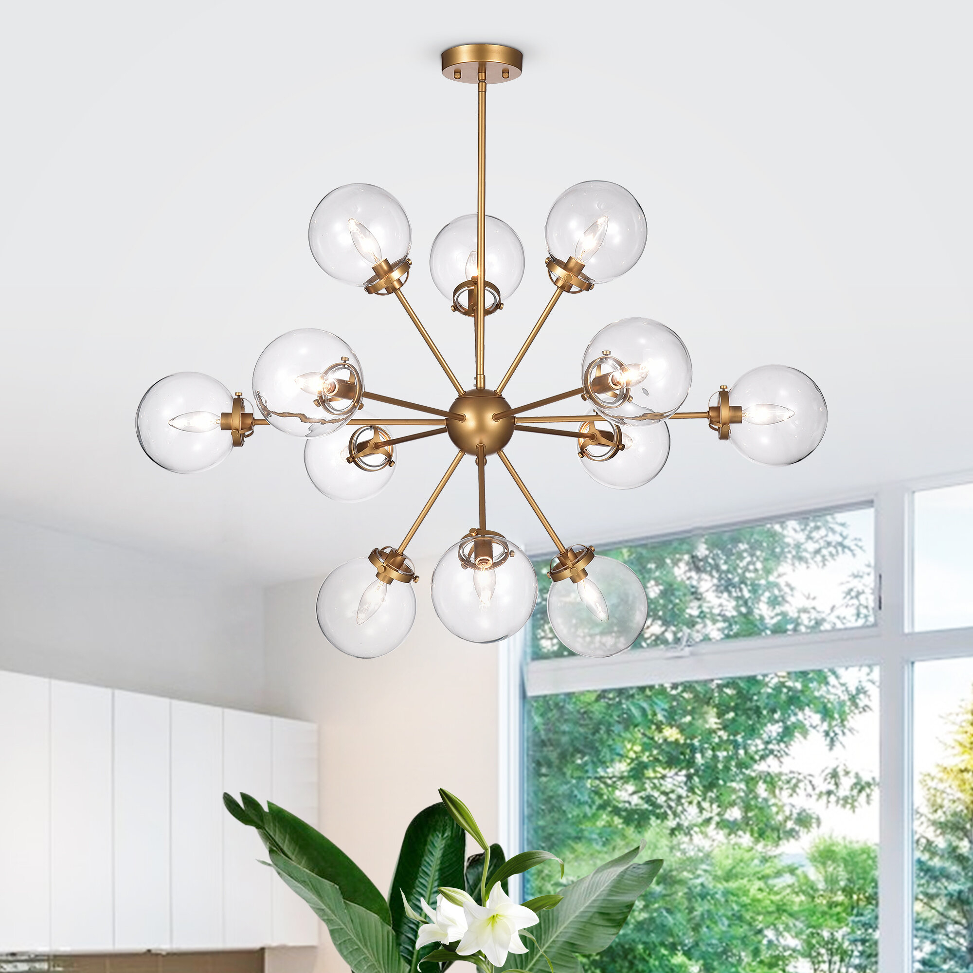 Natividad 12-Light Sputnik Chandelier intended for Asher 12-Light Sputnik Chandeliers (Image 24 of 30)