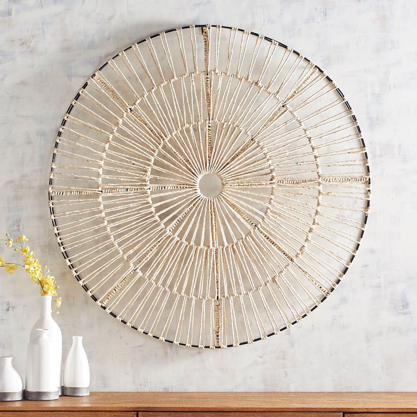 Natural Woven Round Wall Decor | Pier 1 Imports | Front Room inside 4 Piece Handwoven Wheel Wall Decor Sets (Image 26 of 30)