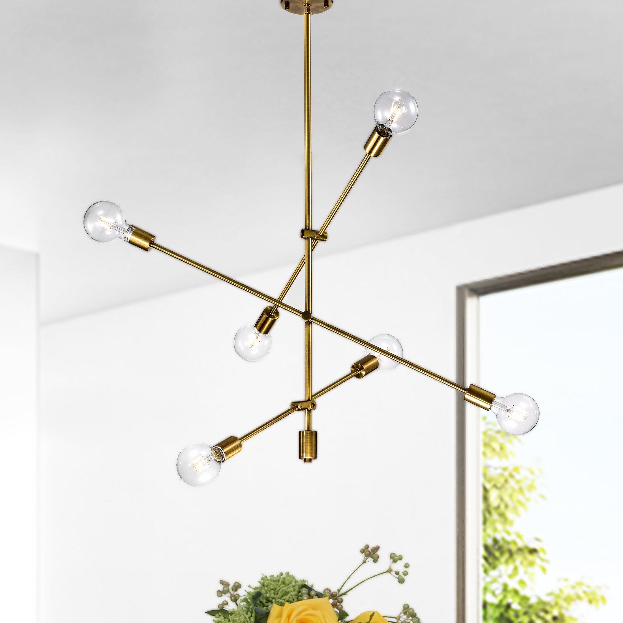 Naughton 6-Light Sputnik Chandelier inside Johanne 6-Light Sputnik Chandeliers (Image 25 of 30)