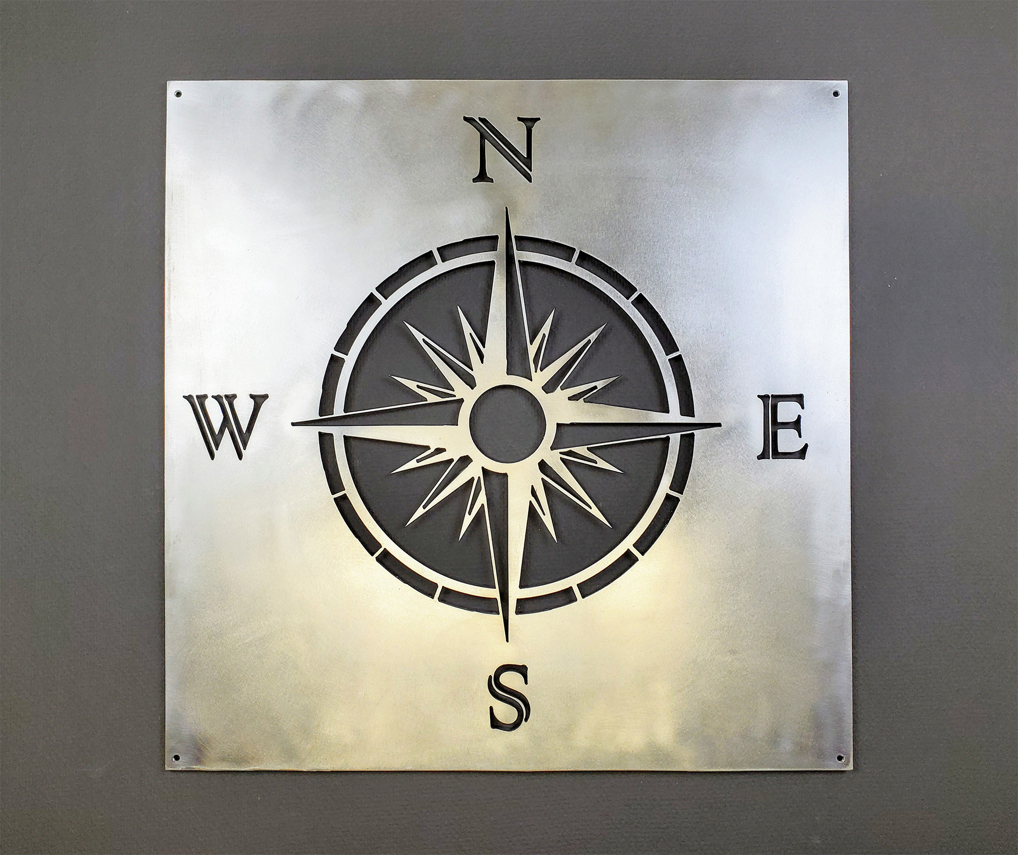 Nautical Compass Metal Wall Art with Outdoor Metal Wall Compass (Image 26 of 30)
