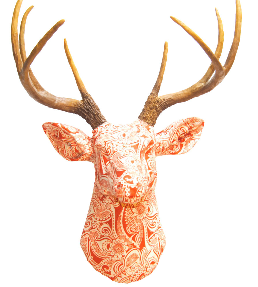 Near And Deer Faux Taxidermy Fabric Deer Head Wall Décor With Regard To Large Deer Head Faux Taxidermy Wall Decor (View 15 of 30)