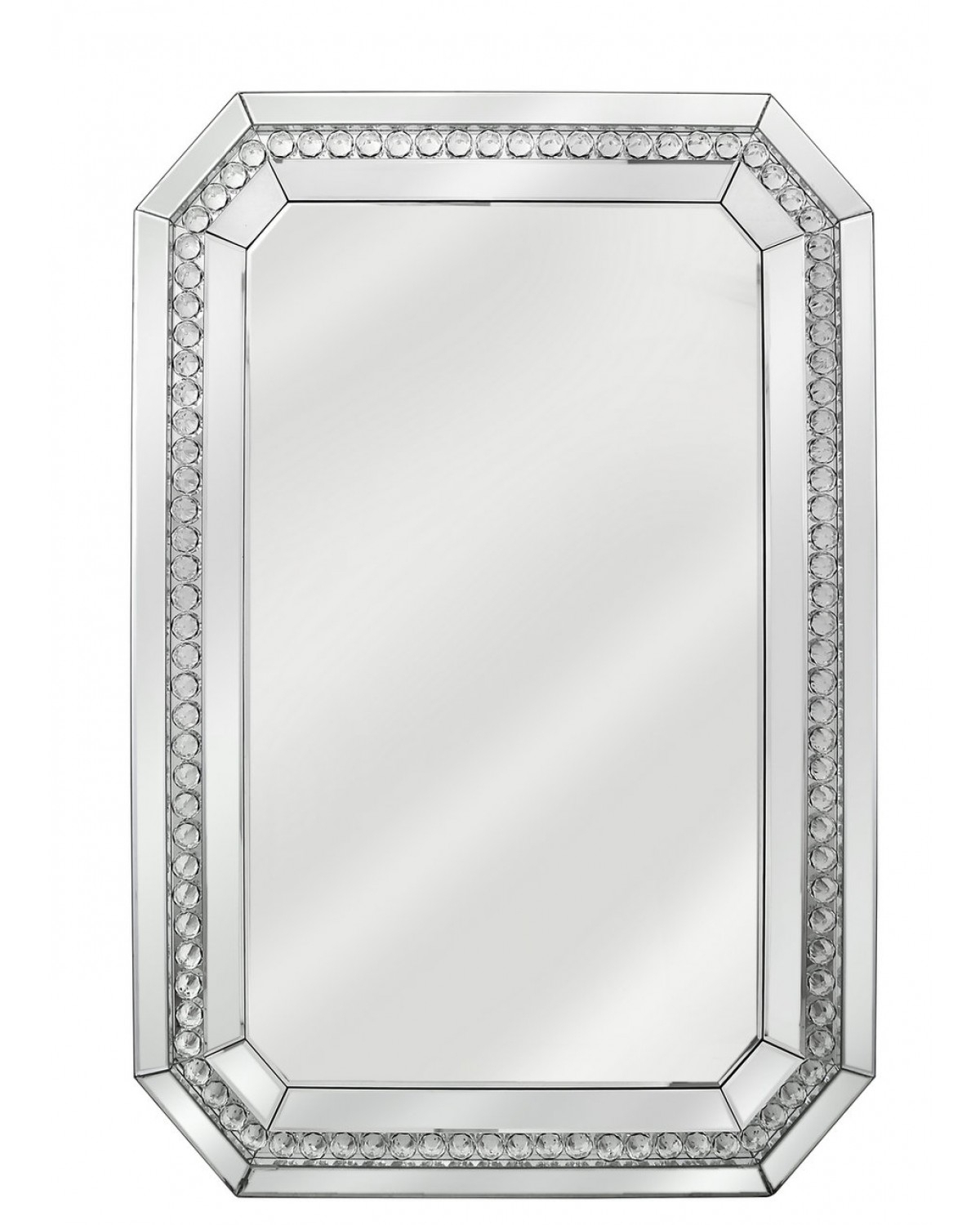 Neoteric Crystal Wall Mirror Glitz Floral Modern Rectangle In Sajish Oval Crystal Wall Mirrors (View 13 of 30)