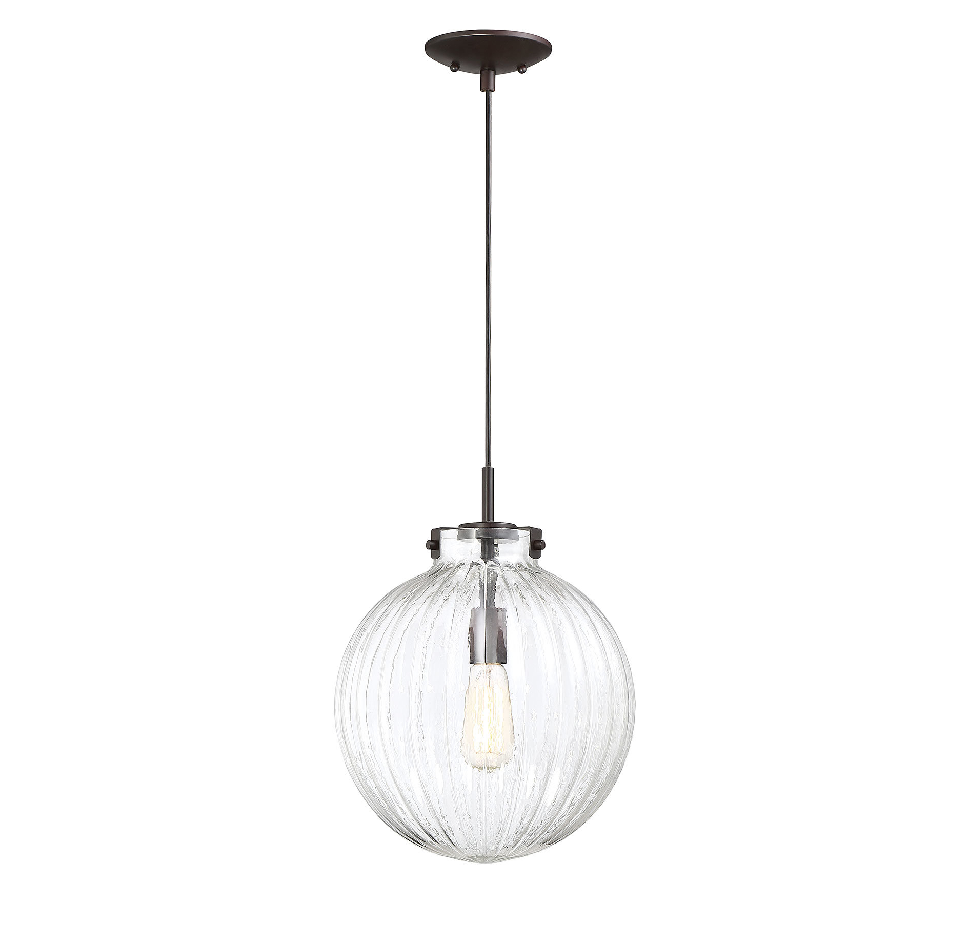 Nevels 1 Light Single Globe Pendant In Cayden 1 Light Single Globe Pendants (View 20 of 30)