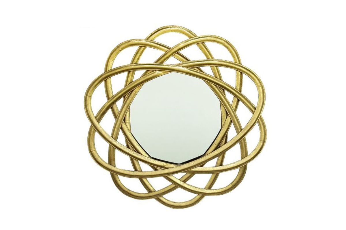 """New Traditional 30"""" Atom Ring Style Wall Mirror In Golduma Throughout Traditional Metal Wall Mirrors (View 23 of 30)"""
