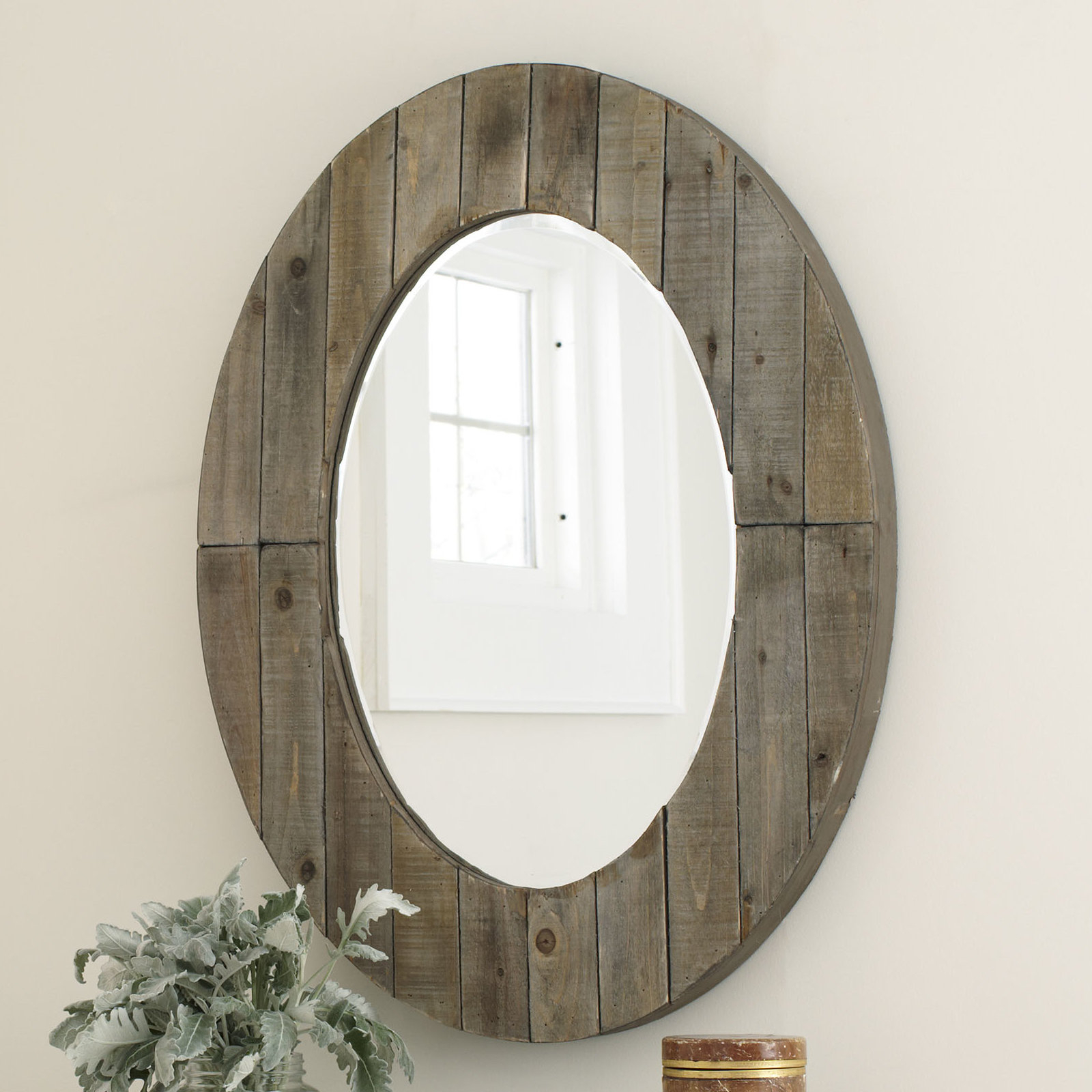 Newson Oval Wall Mirror In Oval Wood Wall Mirrors (View 16 of 30)