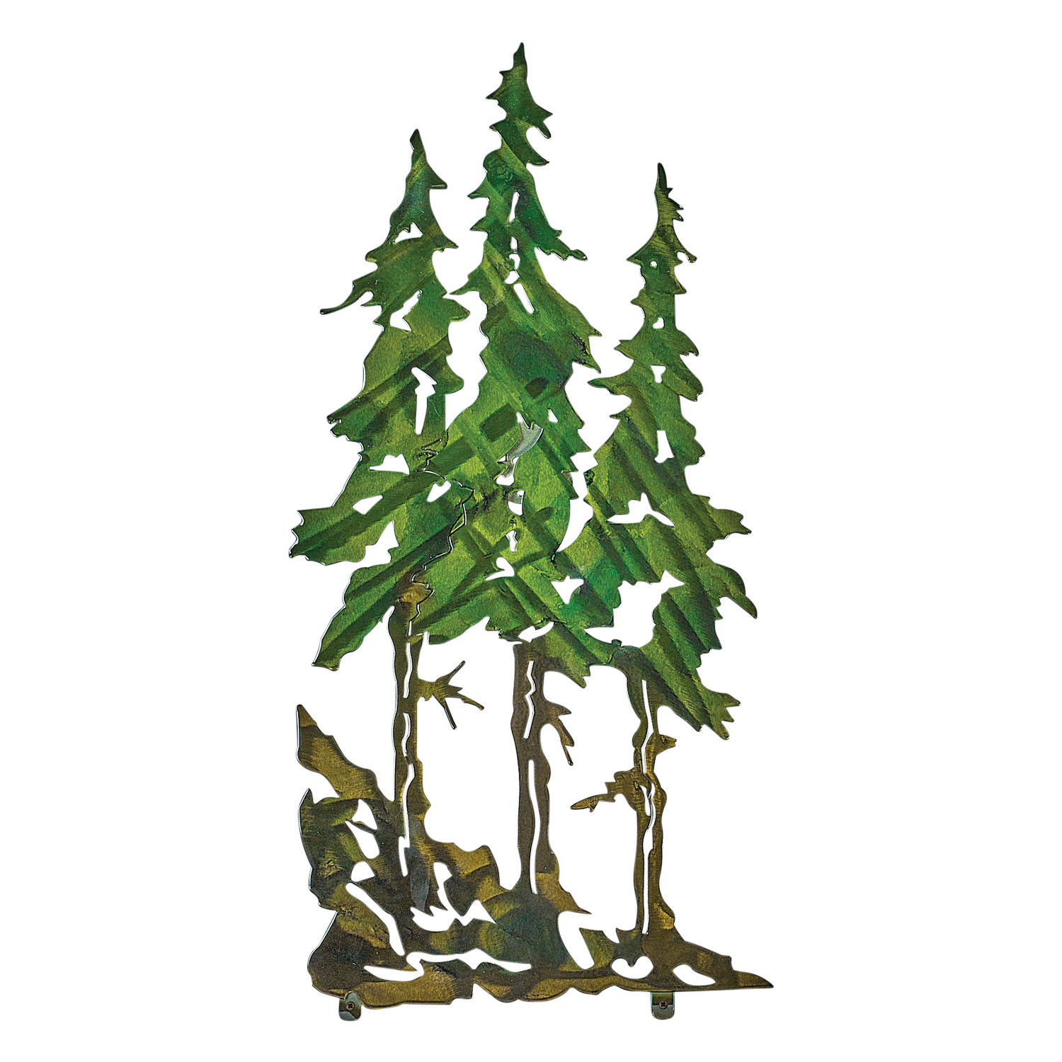 "Next Innovations Three Pines Metal Wall Art Decor – Laser Cut Steel – 10"" X 22"" In Metal Universal Wall Decor (View 8 of 30)"