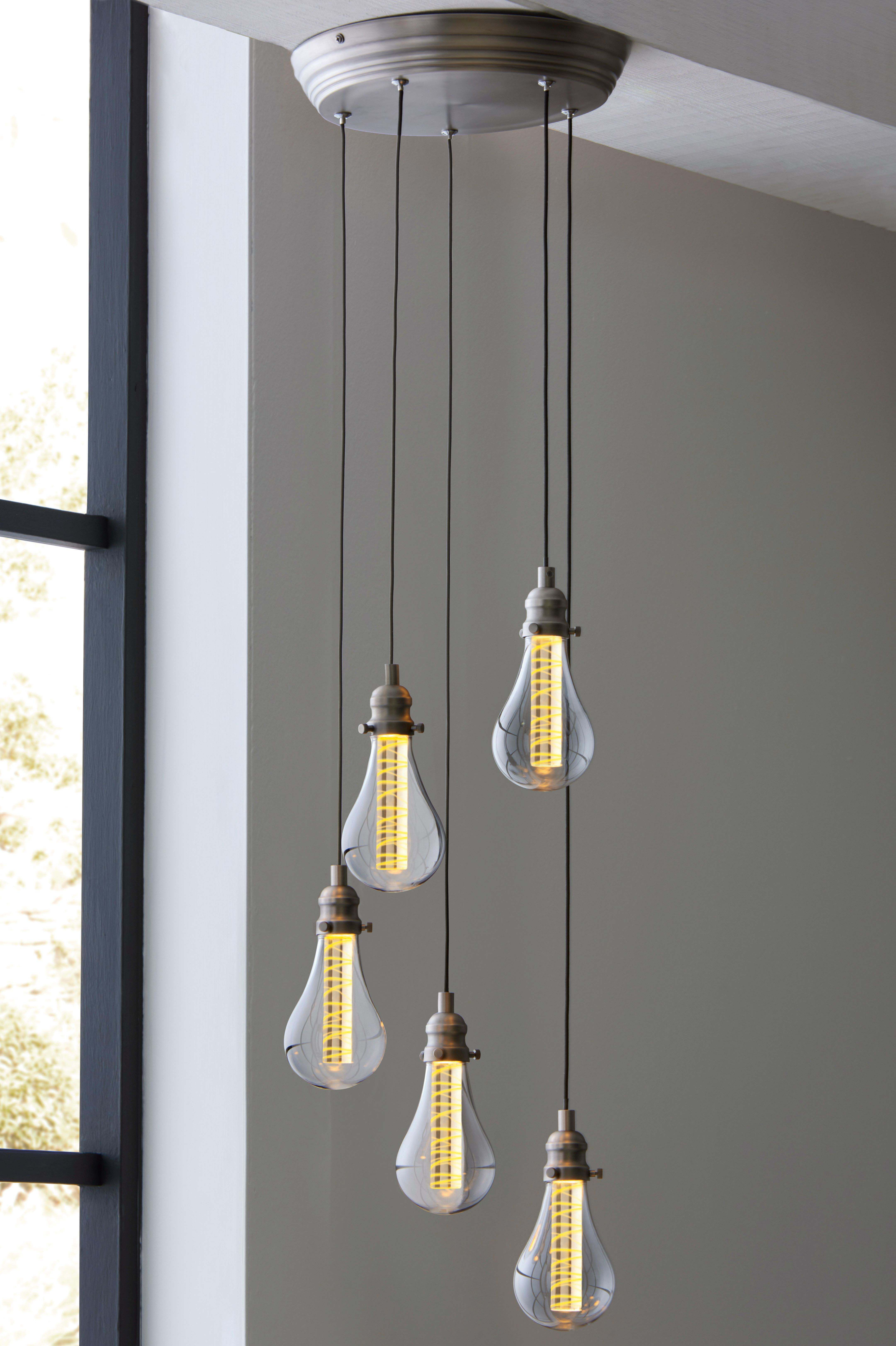 Next Staten Led 5 Light Cluster Pendant - Pewter | Déco with regard to Berenice 3-Light Cluster Teardrop Pendants (Image 21 of 30)