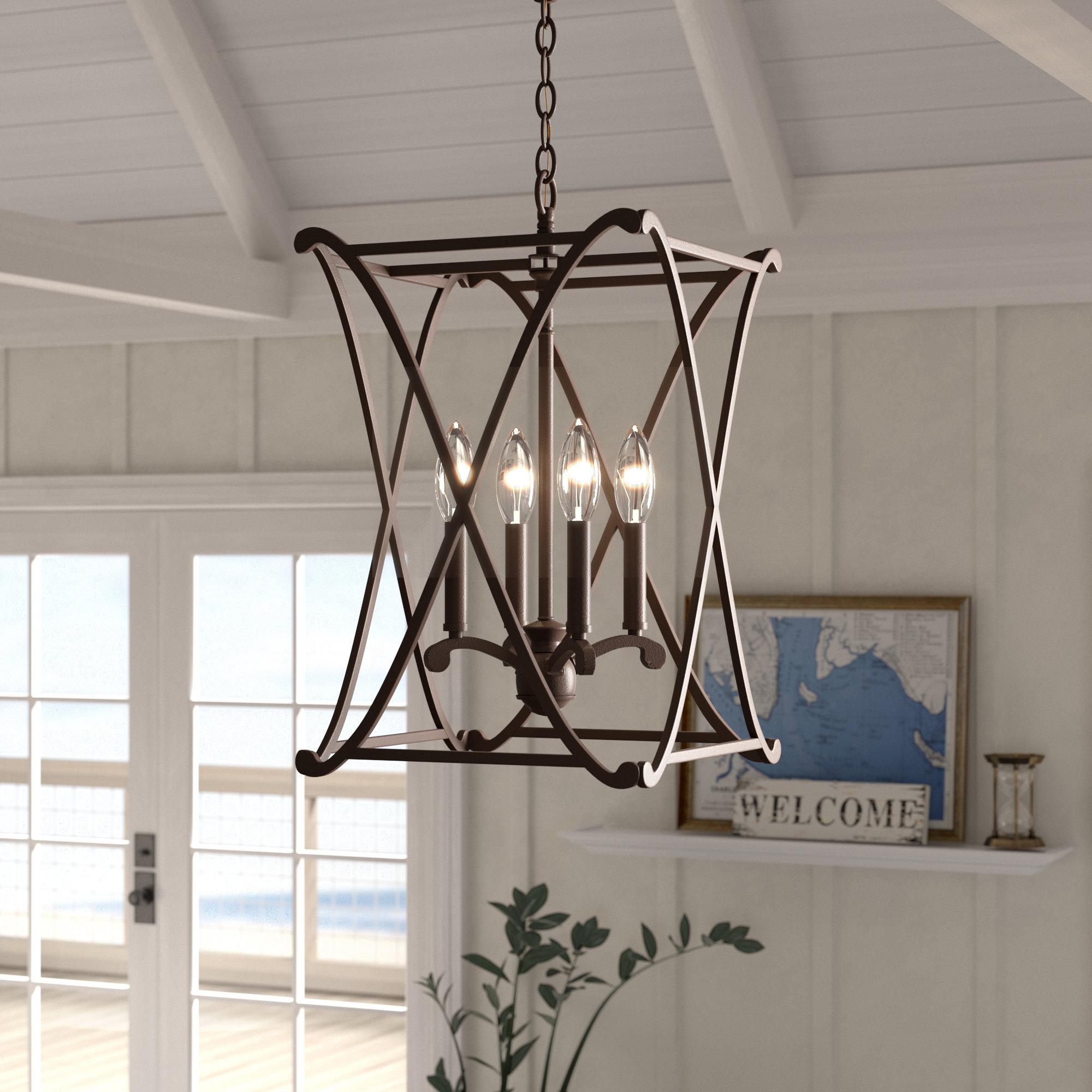 Featured Photo of Nisbet 4 Light Lantern Geometric Pendants
