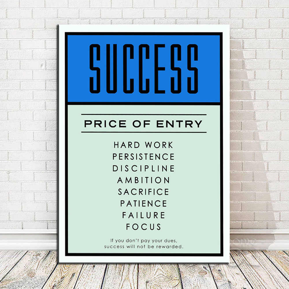 Nordic Inspirational Typography Success Quotes Poster Print Pertaining To Rectangle Like Yourself Inspirational Typography Wall Plaque (View 13 of 30)