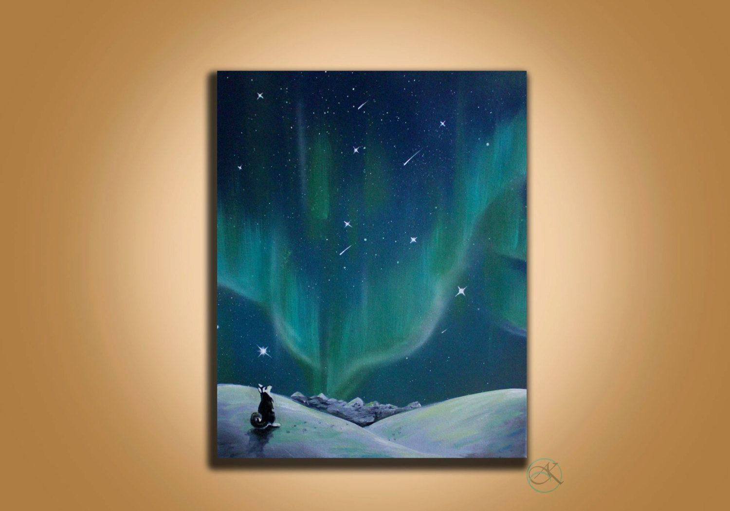 Northern Lights - Wall Art - Painting - Space Painting pertaining to Aurora Sun Wall Decor (Image 14 of 30)