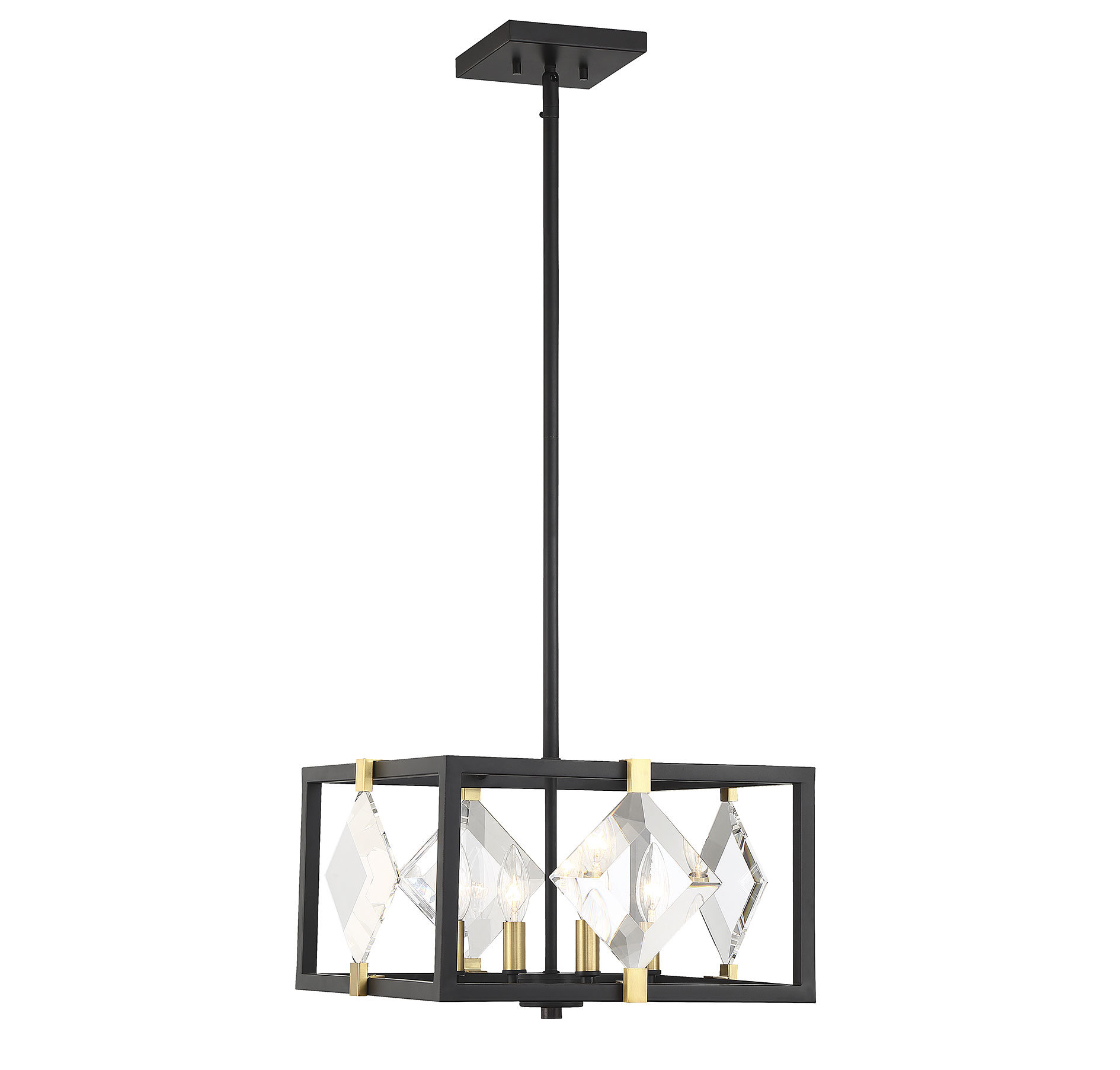 Nowak 4-Light Square/rectangle Chandelier within Delon 4-Light Square Chandeliers (Image 24 of 30)