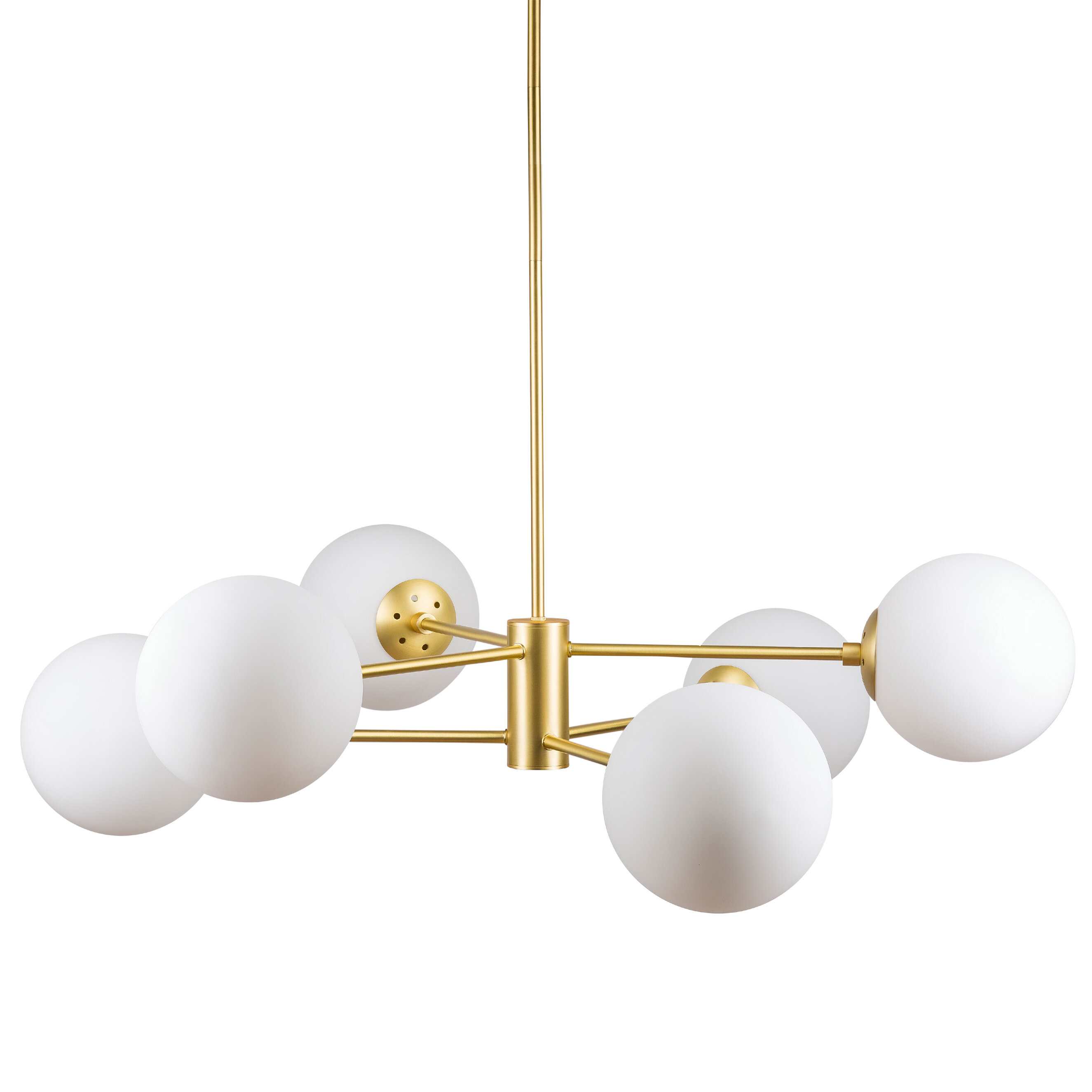 Nyla 6 Light Chandelier In Bautista 6 Light Kitchen Island Bulb Pendants (View 26 of 30)