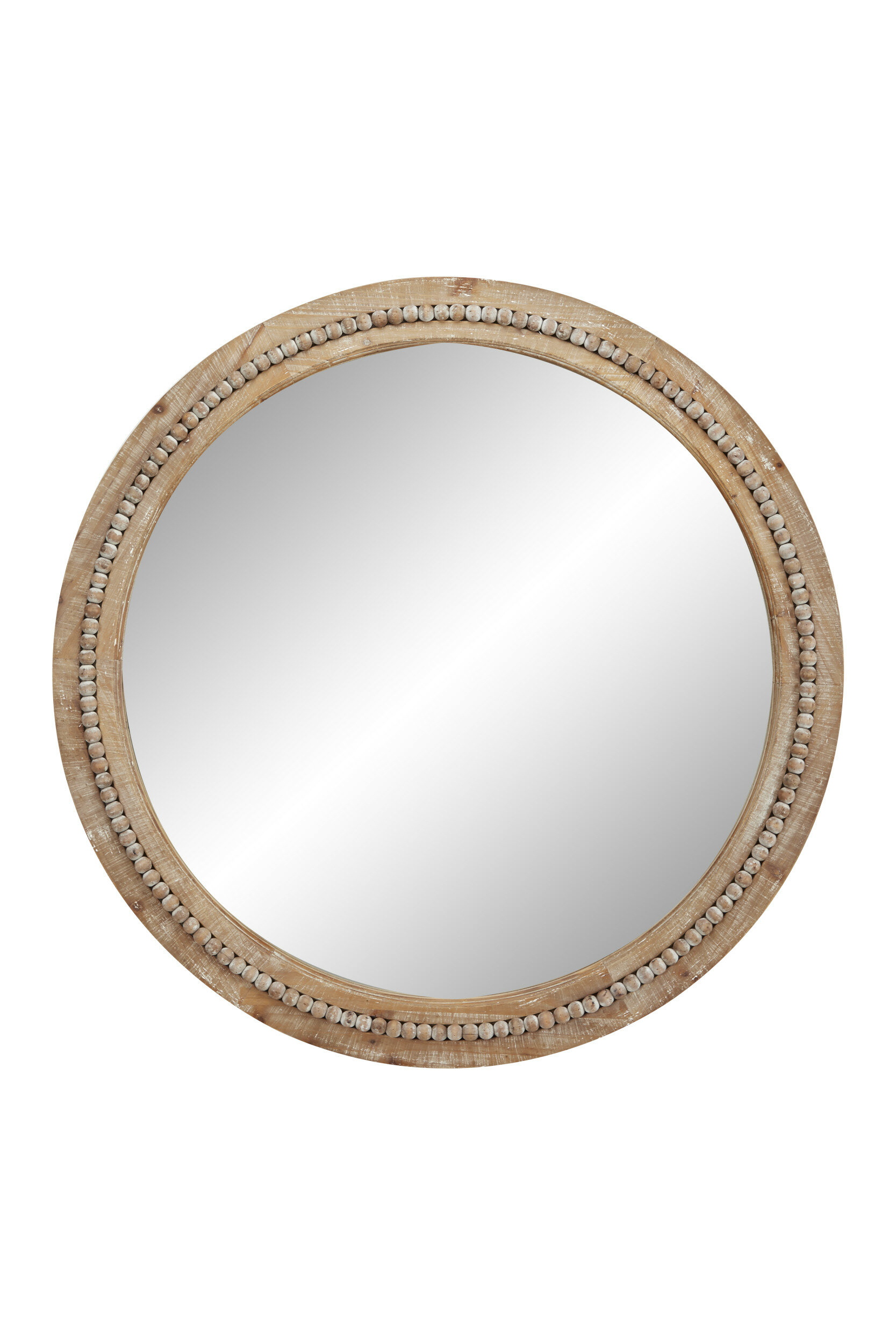 Oakton Round Wood Accent Mirror Pertaining To Wood Accent Mirrors (View 12 of 30)