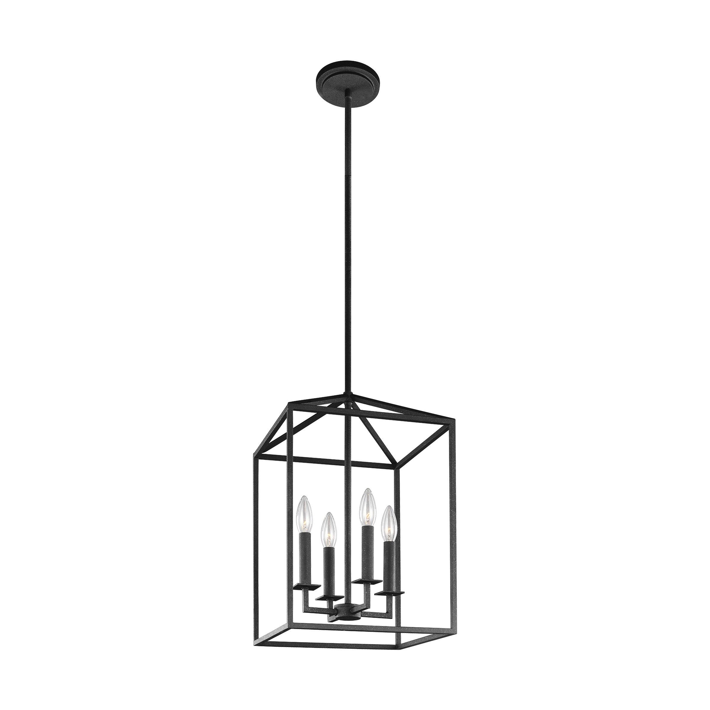 Odie 4 Light Lantern Square / Rectangle Pendant Intended For Odie 8 Light Kitchen Island Square / Rectangle Pendants (View 16 of 30)