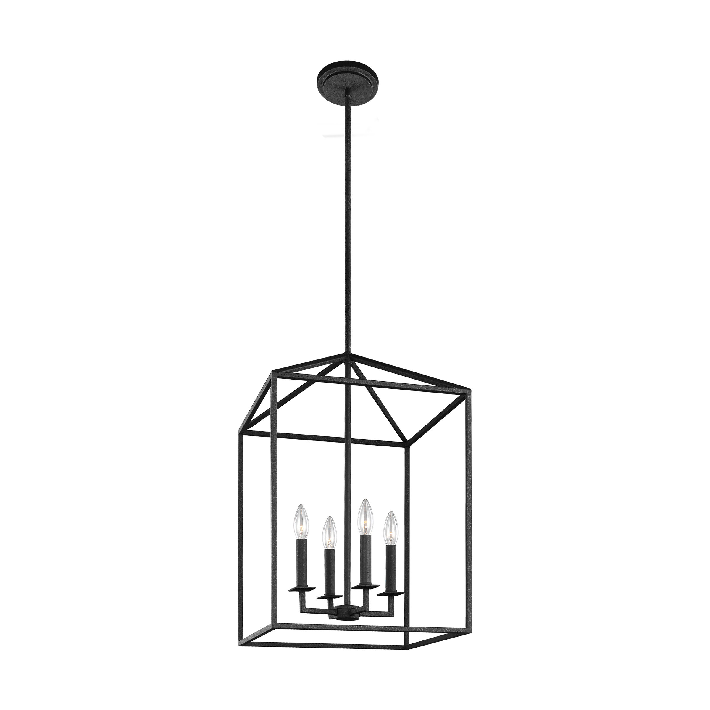 Odie 4 Light Lantern Square/rectangle Pendant Pertaining To 4 Light Lantern Square / Rectangle Pendants (View 5 of 30)