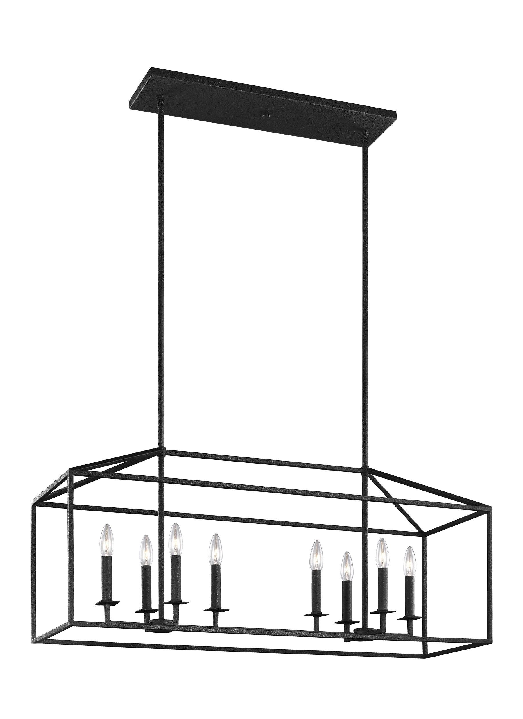 Odie 8-Light Kitchen Island Square / Rectangle Pendant with Odie 8-Light Lantern Square / Rectangle Pendants (Image 22 of 30)