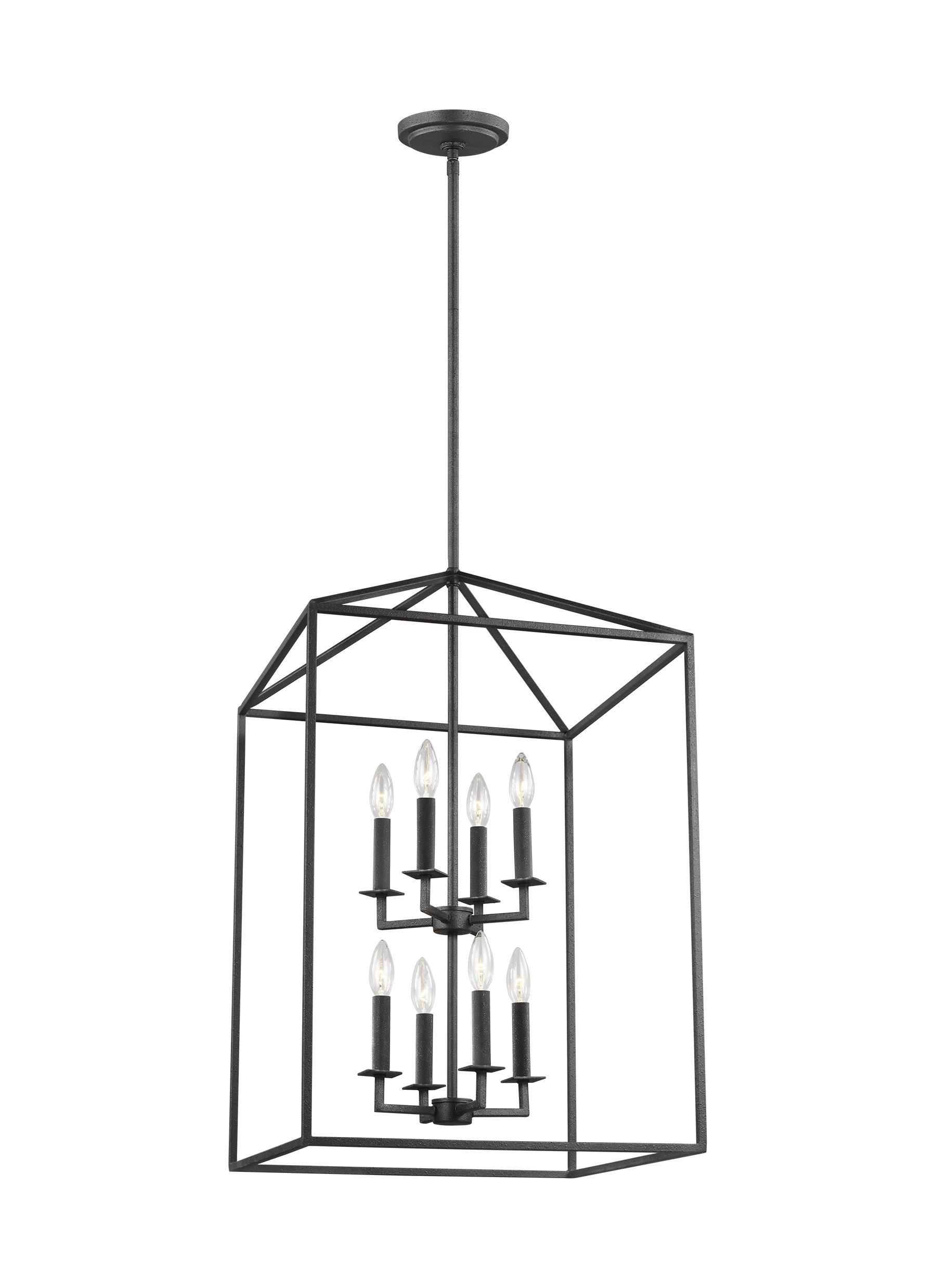Odie 8-Light Lantern Square / Rectangle Pendant throughout Odie 4-Light Lantern Square Pendants (Image 21 of 30)