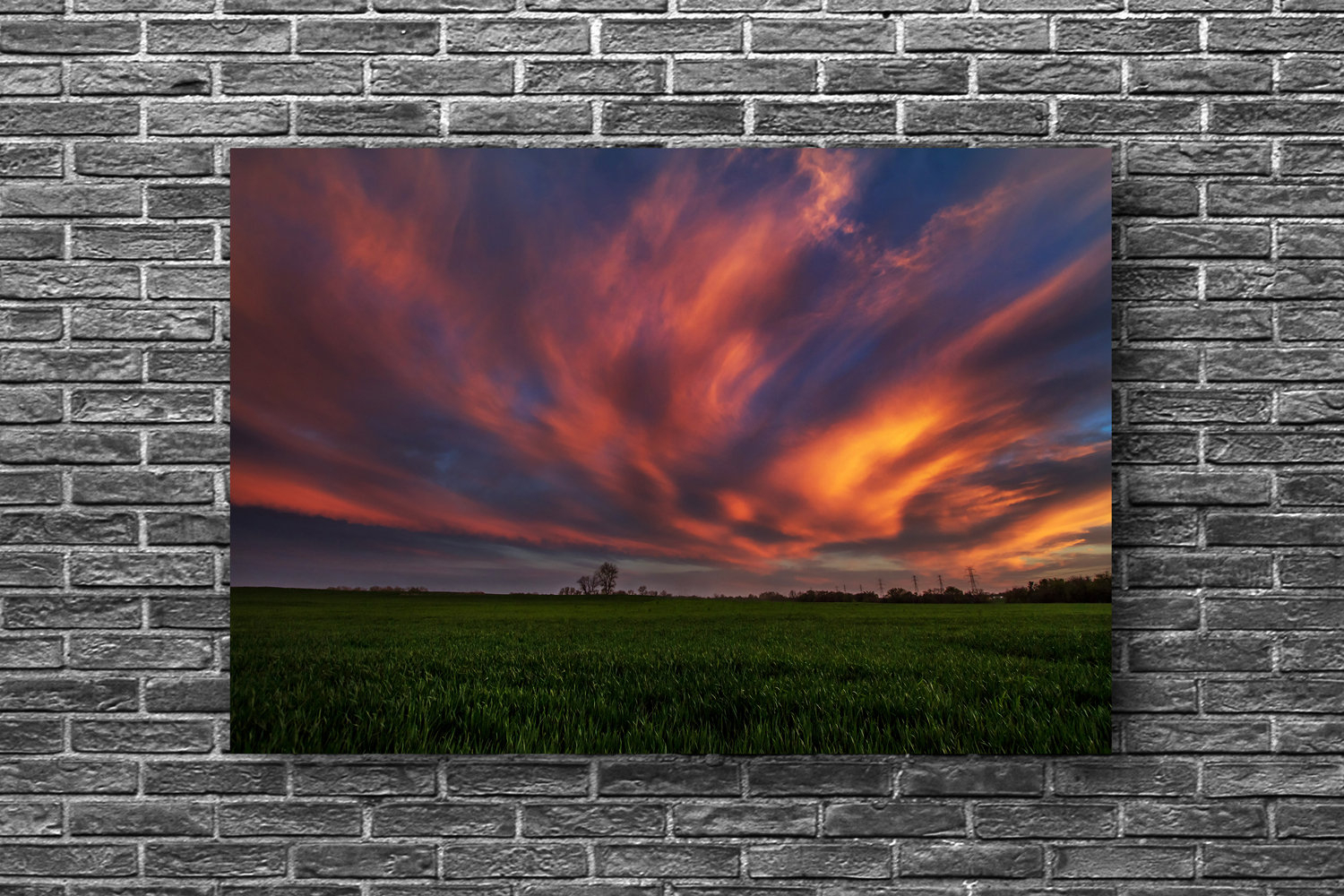 Oklahoma Wall Art Metal Print – Aluminum Photo Of Scenic Clouds Illuminated Sunset In Central Oklahoma Nature Sky Decor 8x10 To 40x60 Inside Nature Metal Sun Wall Decor (View 7 of 30)
