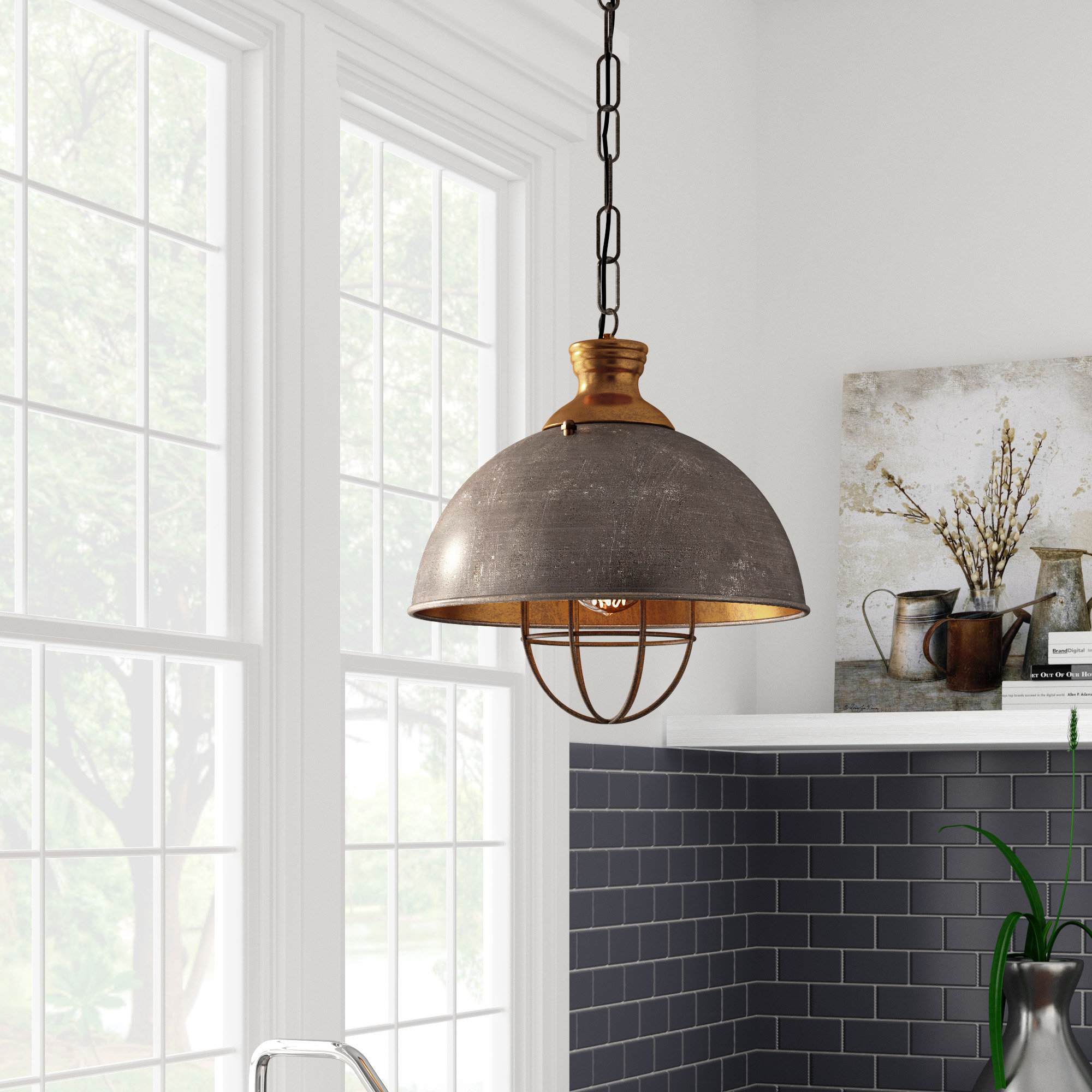 Olathe 1-Light Single Dome Pendant pertaining to 1-Light Single Dome Pendants (Image 22 of 30)