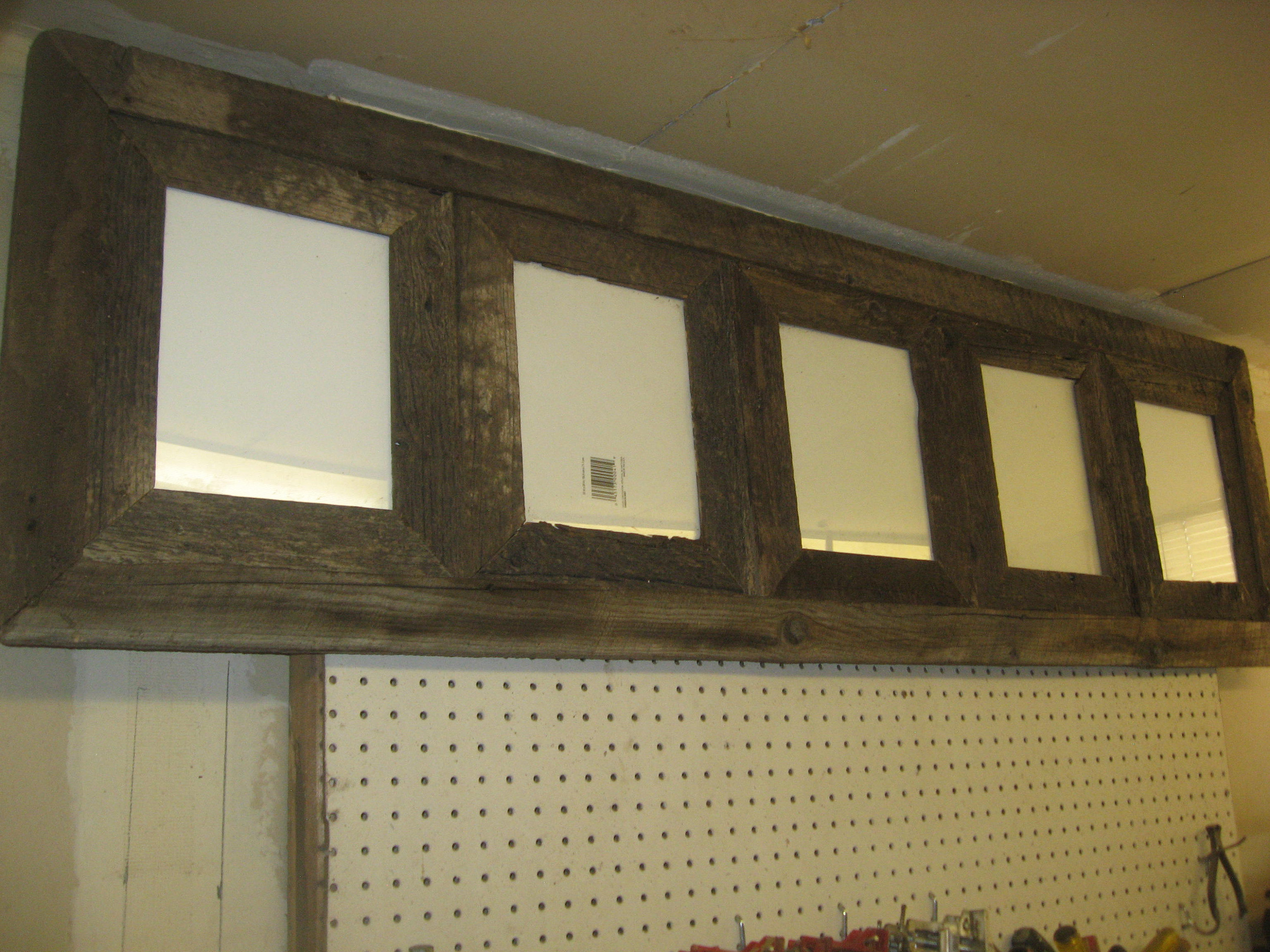 Old, Rustic Barn Wood Picture Frame. An 8 X10 (5) Place Collage, Made Of  Old , Rustic Barn Wood. inside Old Rustic Barn Window Frame (Image 23 of 30)