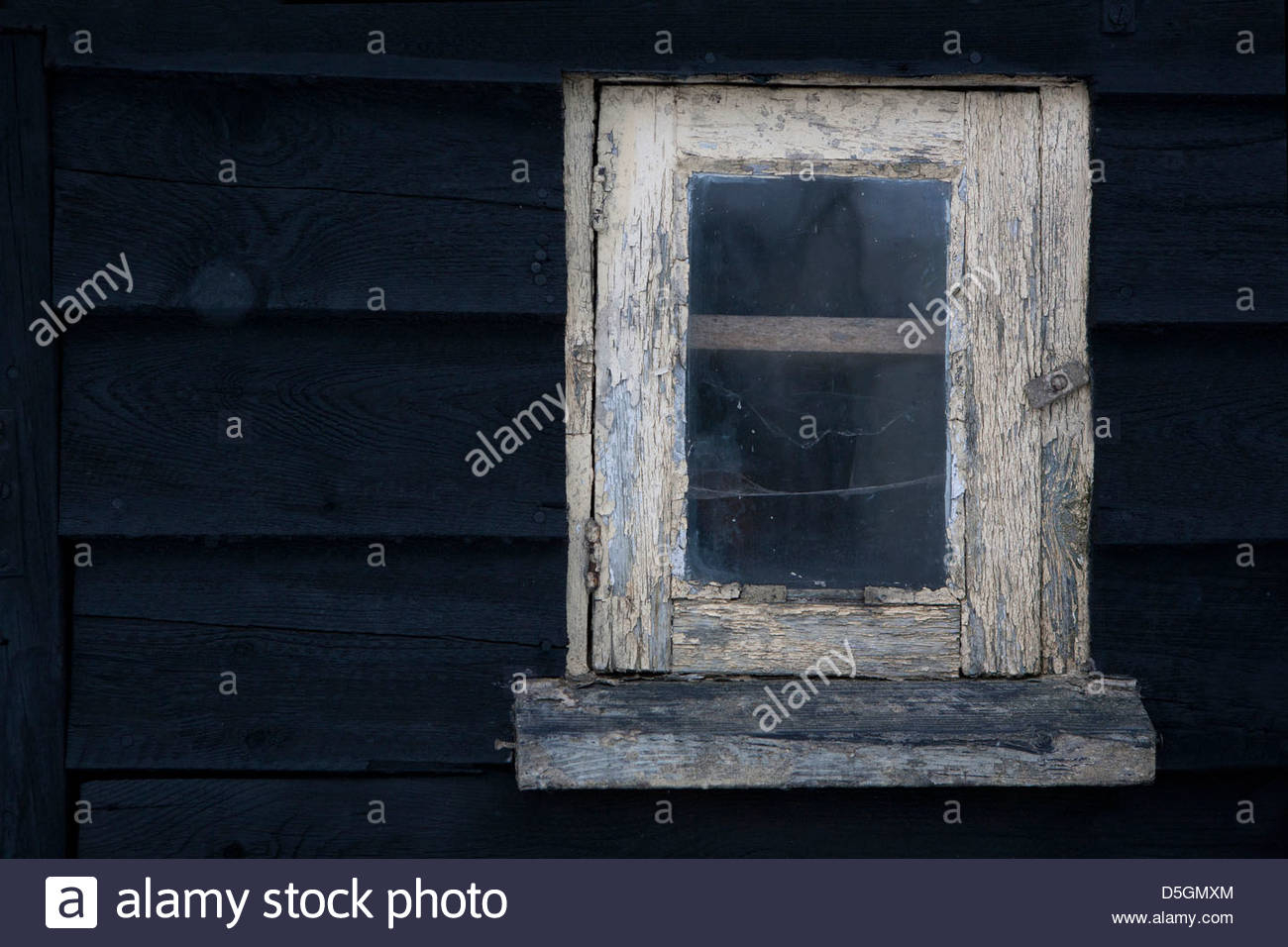 Old Weathered Painted Window Frame In A Wooden Barn. Paint in Old Rustic Barn Window Frame (Image 17 of 30)