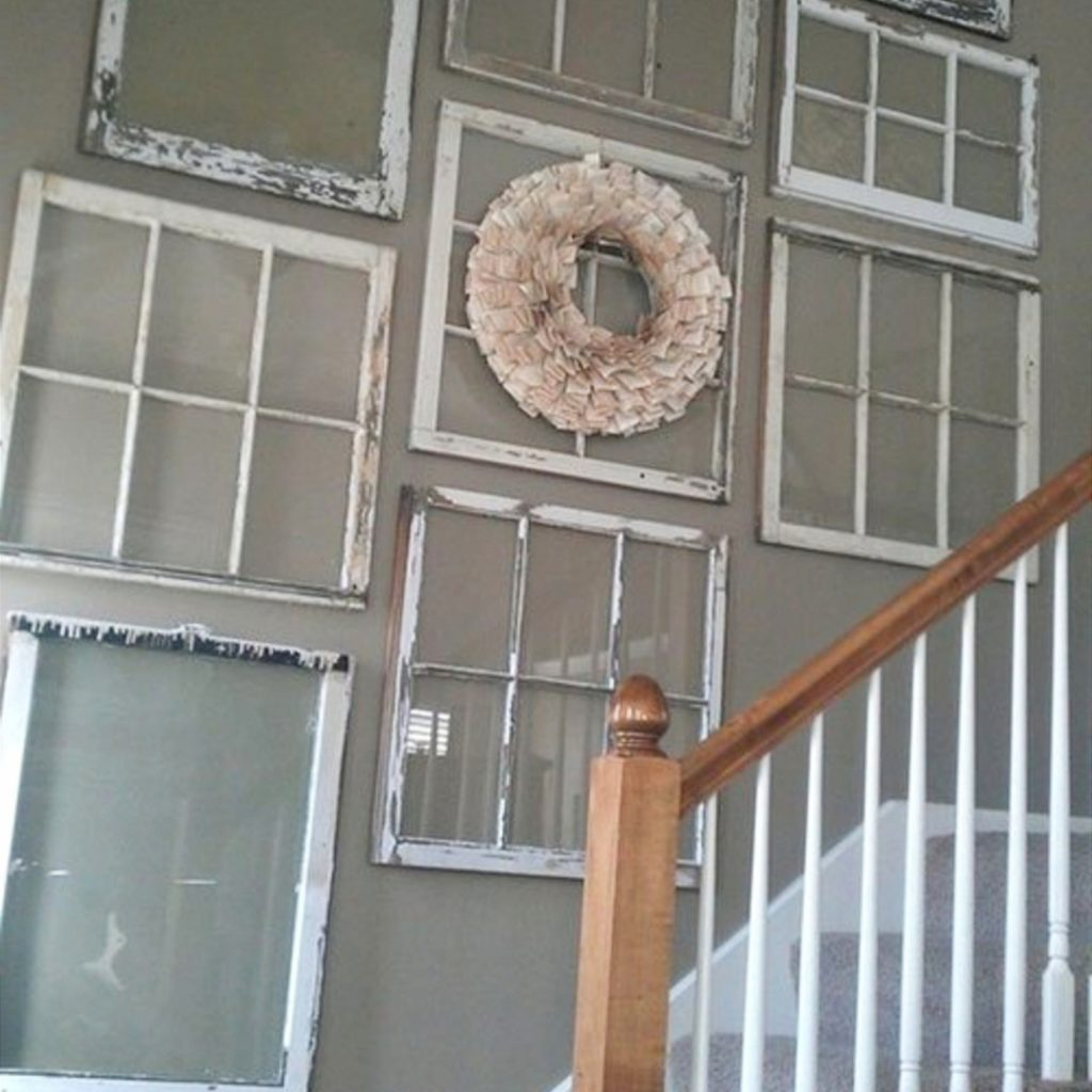 Old Window Frames Diy Ideas And Window Frame Crafts - Involvery regarding Old Rustic Barn Window Frame (Image 19 of 30)