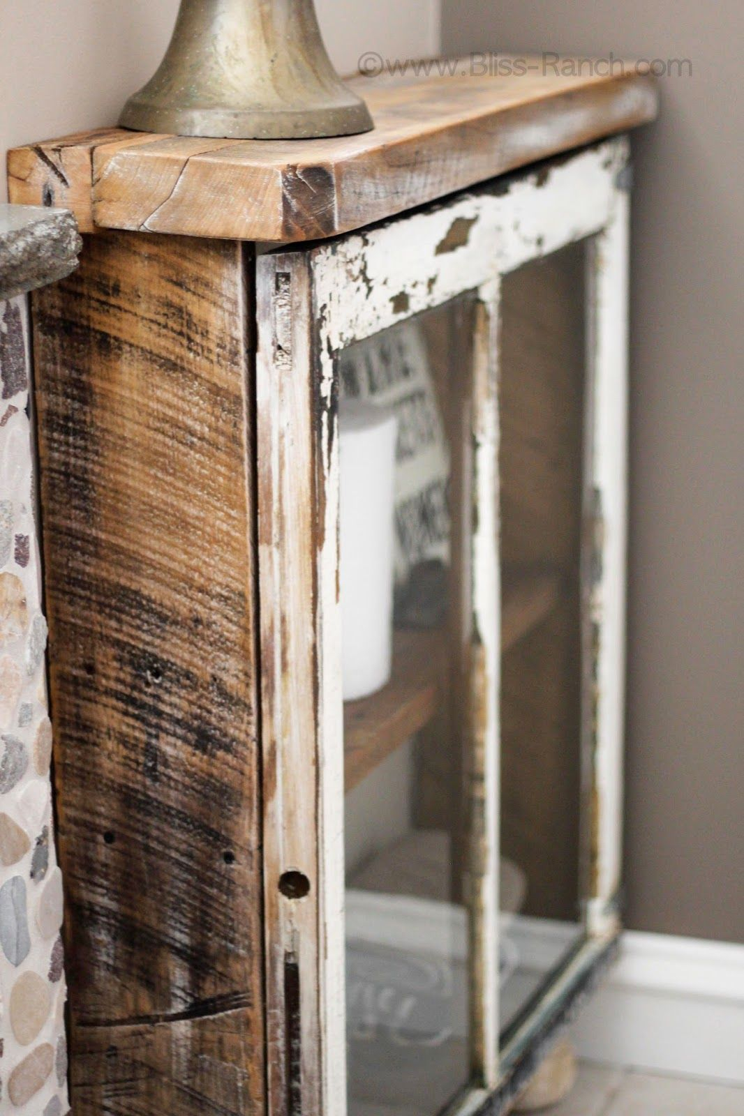 Old Window Frames - Easy Craft Ideas with Old Rustic Barn Window Frame (Image 18 of 30)
